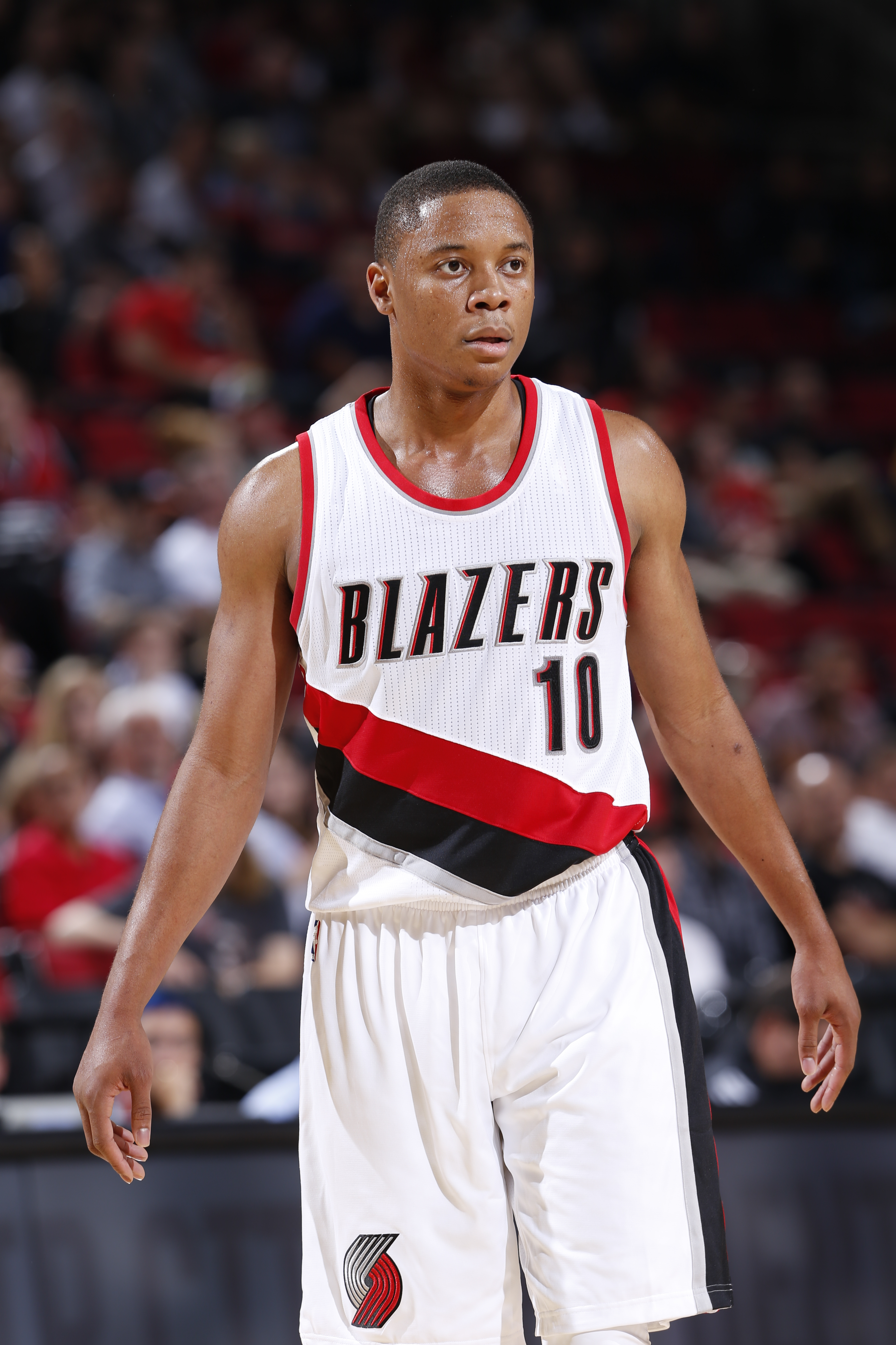 PORTLAND, OR - OCTOBER 5: Tim Frazier #10 of the Portland Trail Blazers during the preseason game against the Sacramento Kings on October 5, 2015 at the Moda Center Arena in Portland, Oregon. (Photo by Sam Forencich/NBAE via Getty Images)