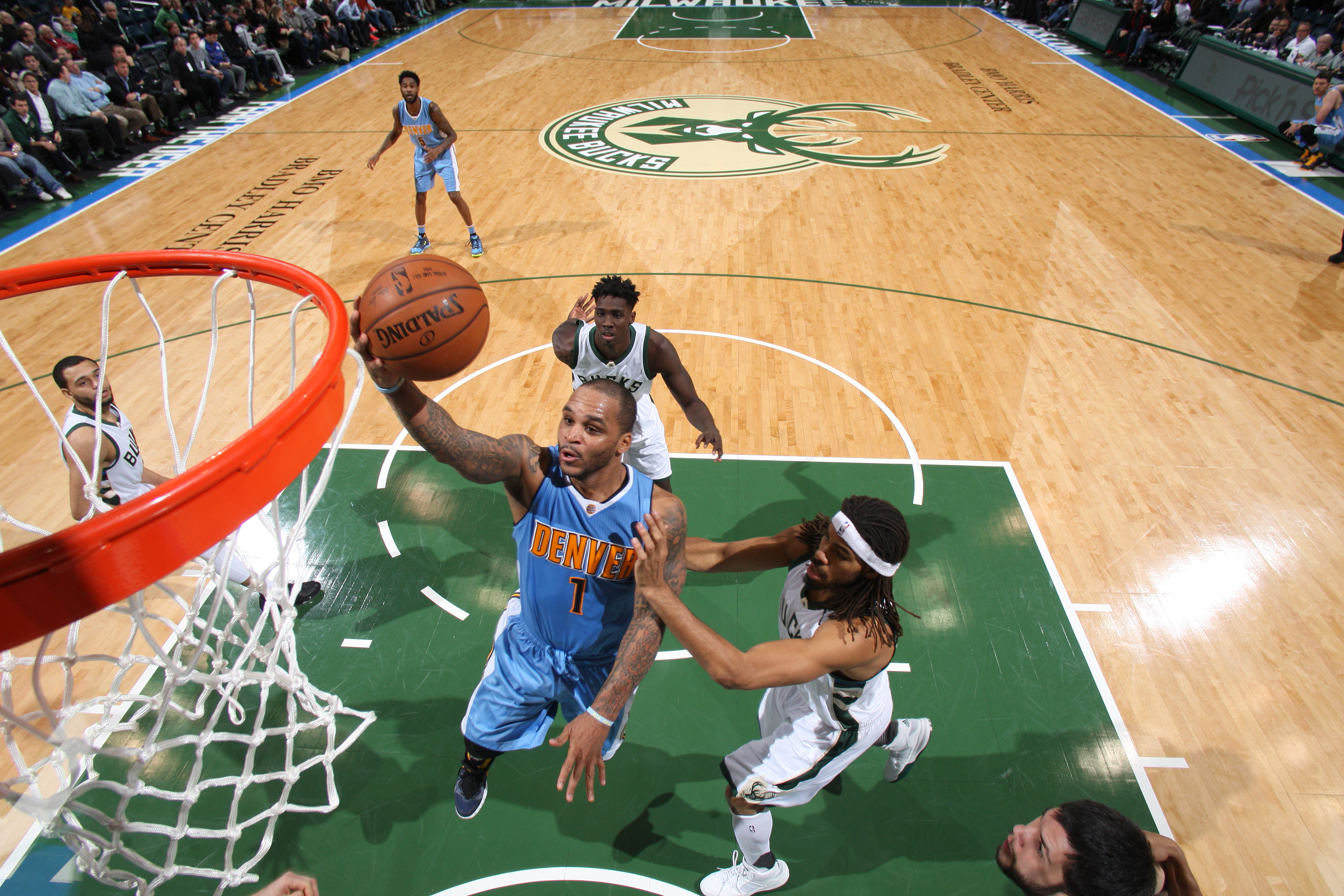 Milwaukee, WI - NOVEMBER 30: Jameer Nelson #1 of the Denver Nuggets shoots the ball against the Milwaukee Bucks on November 30, 2015 at the BMO Harris Bradley Center in Milwaukee, Wisconsin. (Photo by Gary Dineen/NBAE via Getty Images)