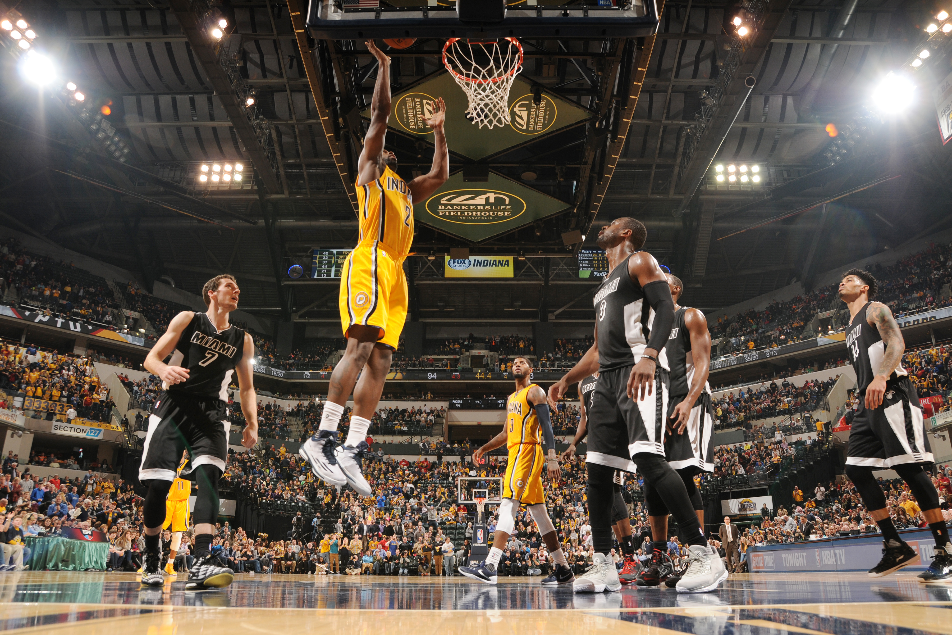 INDIANAPOLIS, IN - DECEMBER 11:  Rodney Stuckey #2 of the Indiana Pacers shoots the ball against the Miami Heat on December 11, 2015 at Bankers Life Fieldhouse in Indianapolis, Indiana. (Photo by Ron Hoskins/NBAE via Getty Images)