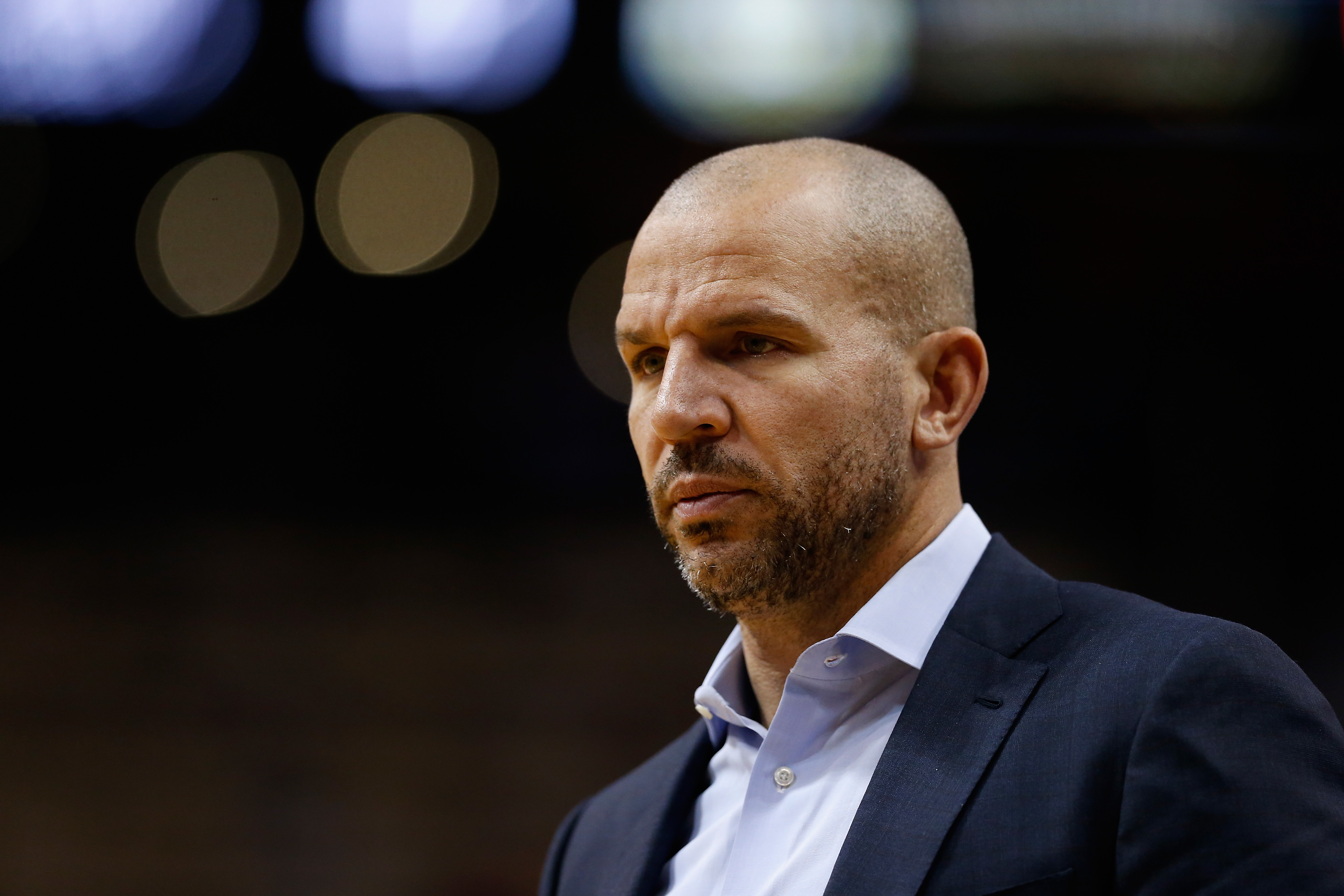 PHOENIX, AZ - DECEMBER 20:  Head coach Jason Kidd of the Milwaukee Bucks looks on during the second half of the NBA game against the Phoenix Suns at Talking Stick Resort Arena on December 20, 2015 in Phoenix, Arizona.  The Bucks defeated the Suns 101-95 (