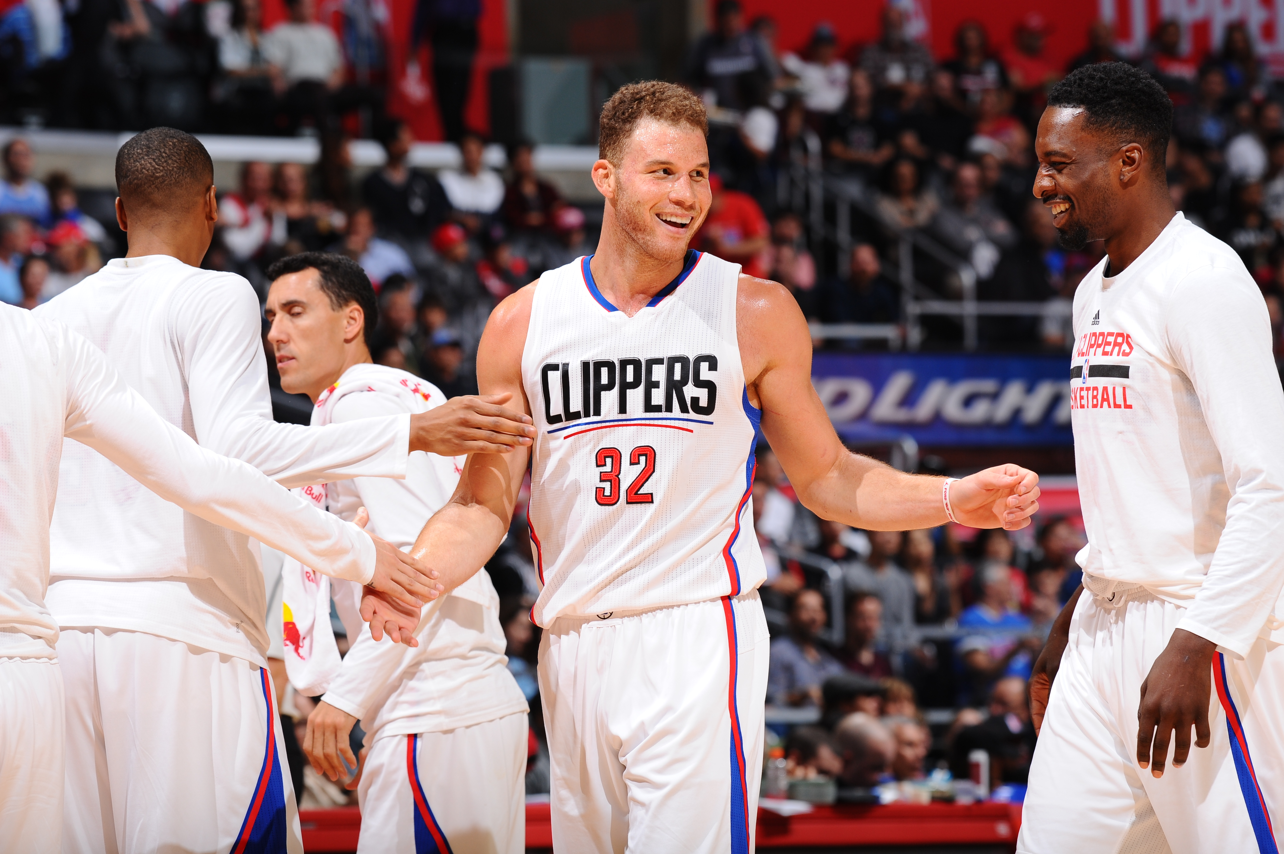 LOS ANGELES, CA  - APRIL 10: Blake Griffin #32 of the Los Angeles Clippers during the game against the Dallas Mavericks on April 10, 2016 at STAPLES Center in Los Angeles, California. (Photo by Juan Ocampo/NBAE via Getty Images)