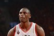 TORONTO, CANADA - MAY 27:  Bismack Biyombo #8 of the Toronto Raptors prepares to shoot a free throw against the Cleveland Cavaliers in Game Six of the Eastern Conference Finals during the 2016 NBA Playoffs on May 27, 2016 at the Air Canada Centre in Toron