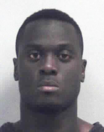 This booking photo provided by the Gwinnett County Sheriffs office shows Prince Shembo. The Atlanta Falcons waived linebacker Shembo on Friday, May 29, 2015, shortly after he was charged with aggravated animal cruelty. Police in suburban Gwinnett County s