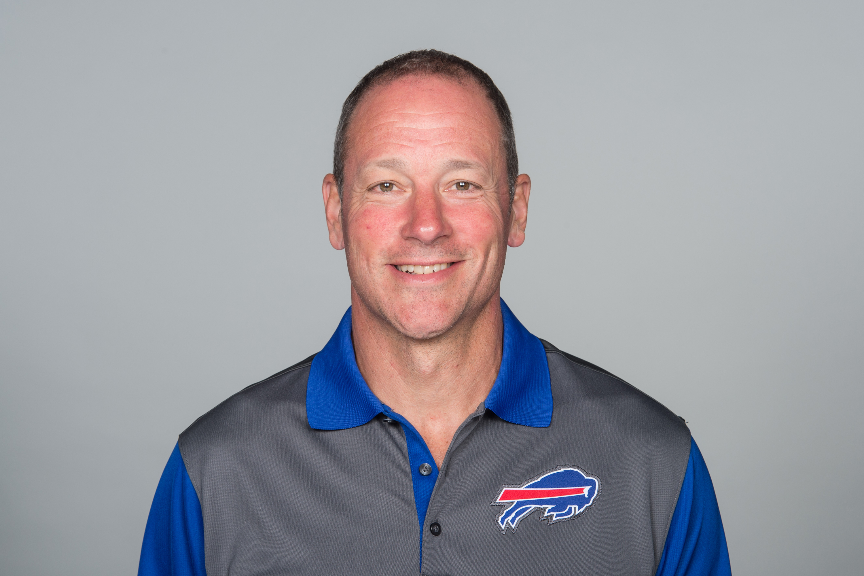 This is a 2015 photo of Aaron Kromer of the Buffalo Bills NFL football team. This image reflects the Buffalo Bills active roster as of Monday, June 15, 2015 when this image was taken. (AP Photo)