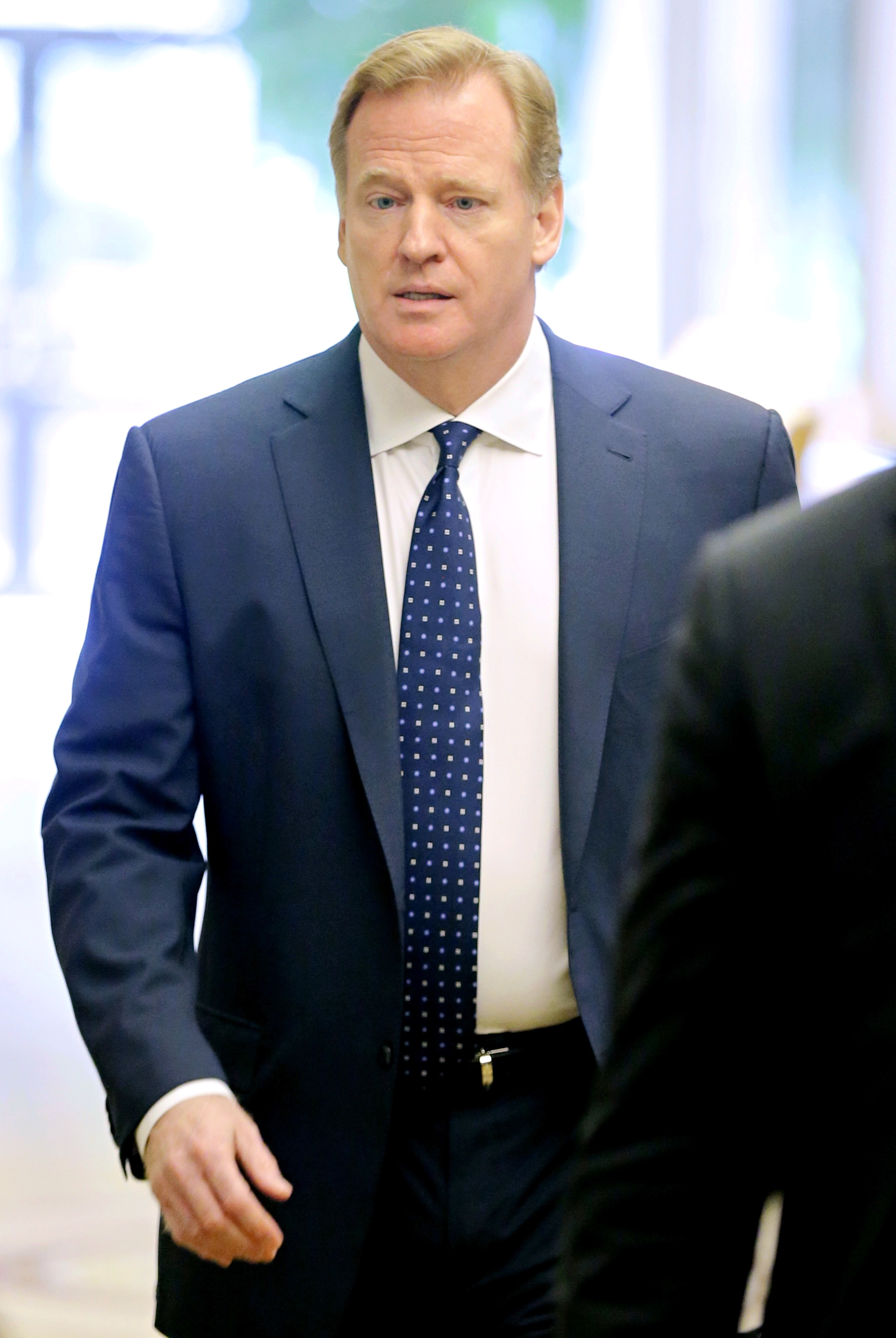 NFL Commissioner Roger Goodell arrives for an NFL owners meeting in Irving, Texas, Wednesday, Dec. 2, 2015. (AP Photo/Brandon Wade)