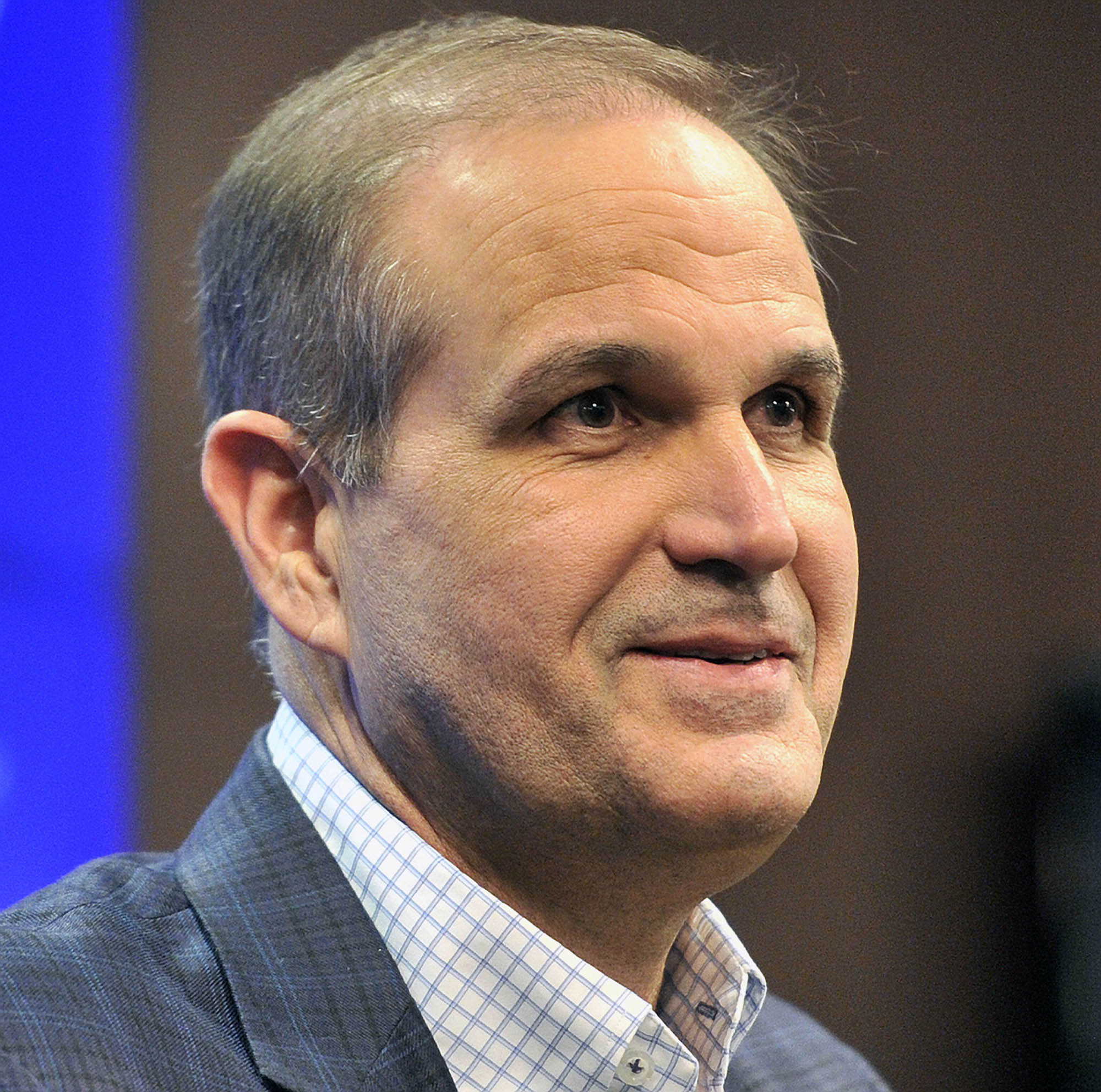 Kevin Steele speaks to the media after being introduced as Auburn's defensive coordinator Tuesday, Jan. 5, 2016, at Auburn Athletic Complex  in Auburn, Ala. (Julie Bennett /AL.com via AP) MAGS OUT; MANDATORY CREDIT