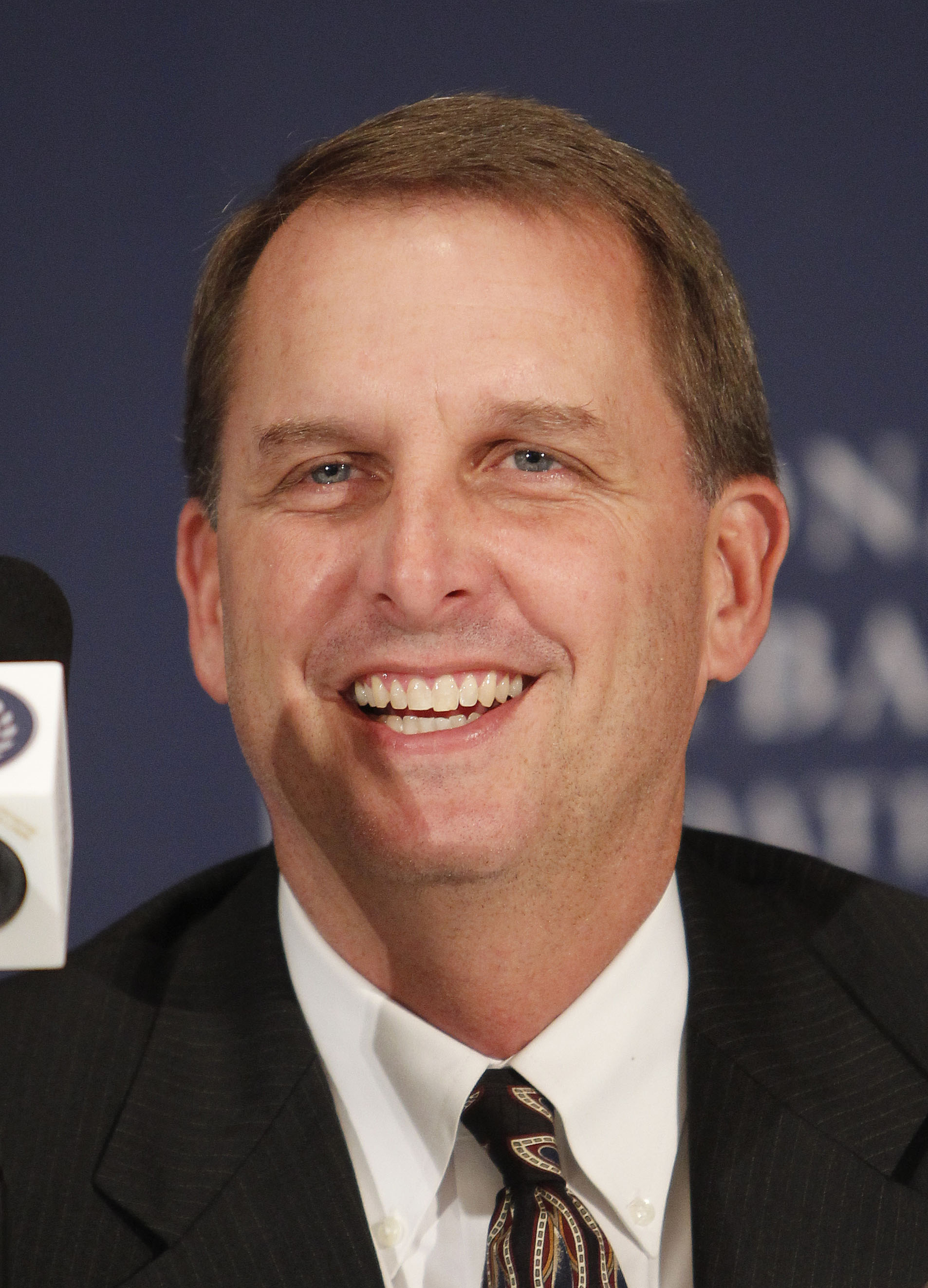 Inductee Ty Detmer, a former quarterback for BYU, speaks during the announcement of the 2012 College Football Hall of Fame class, Tuesday, Dec. 4, 2012, in New York. (AP Photo/Jason DeCrow)