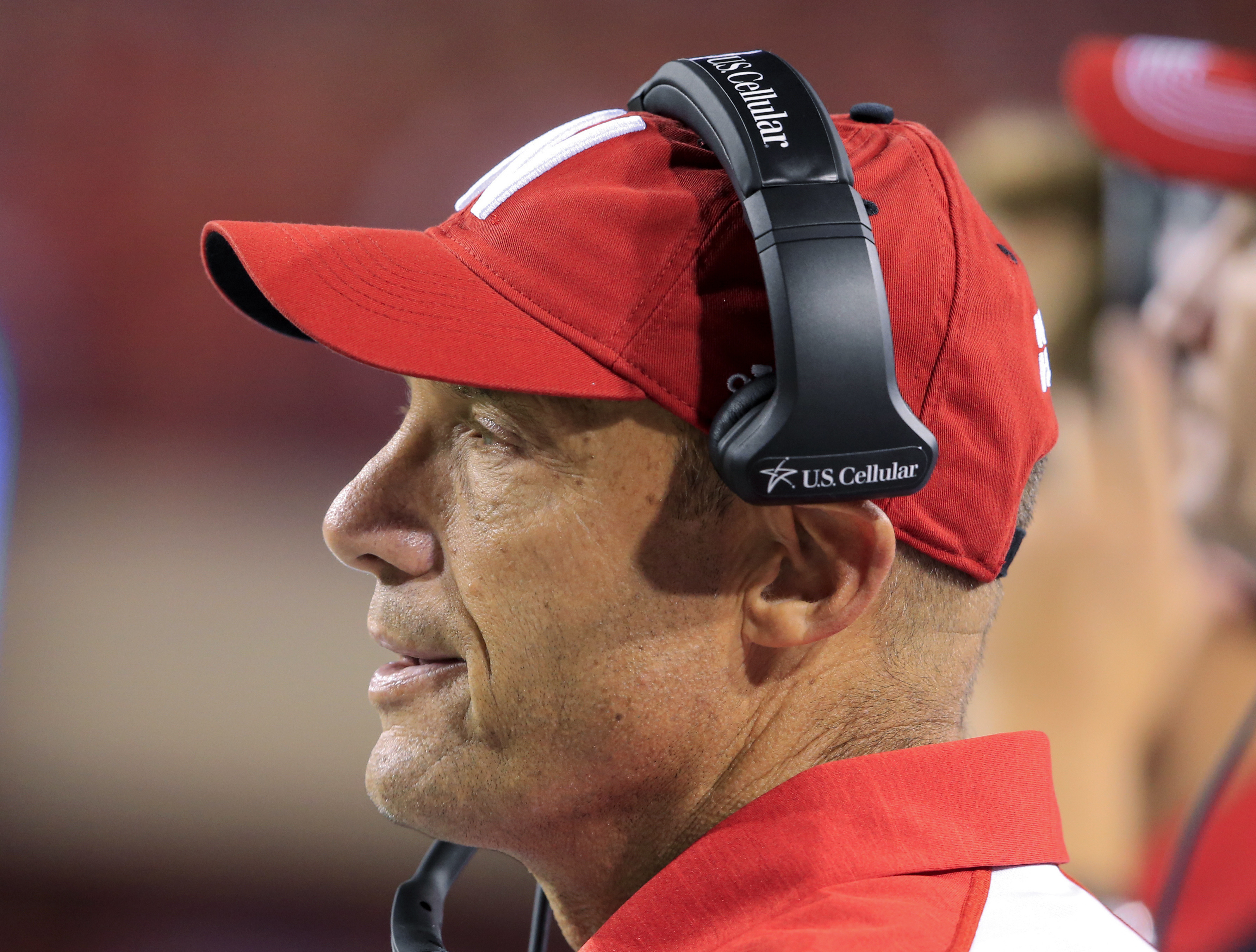 FILE - In this Sept. 3, 2016 photo, Nebraska head coach Mike Riley follows the second half of an NCAA college football game against Fresno State in Lincoln, Neb. Riley didn't expect to see Oregon again once he left Oregon State. But he will Saturday, Sept