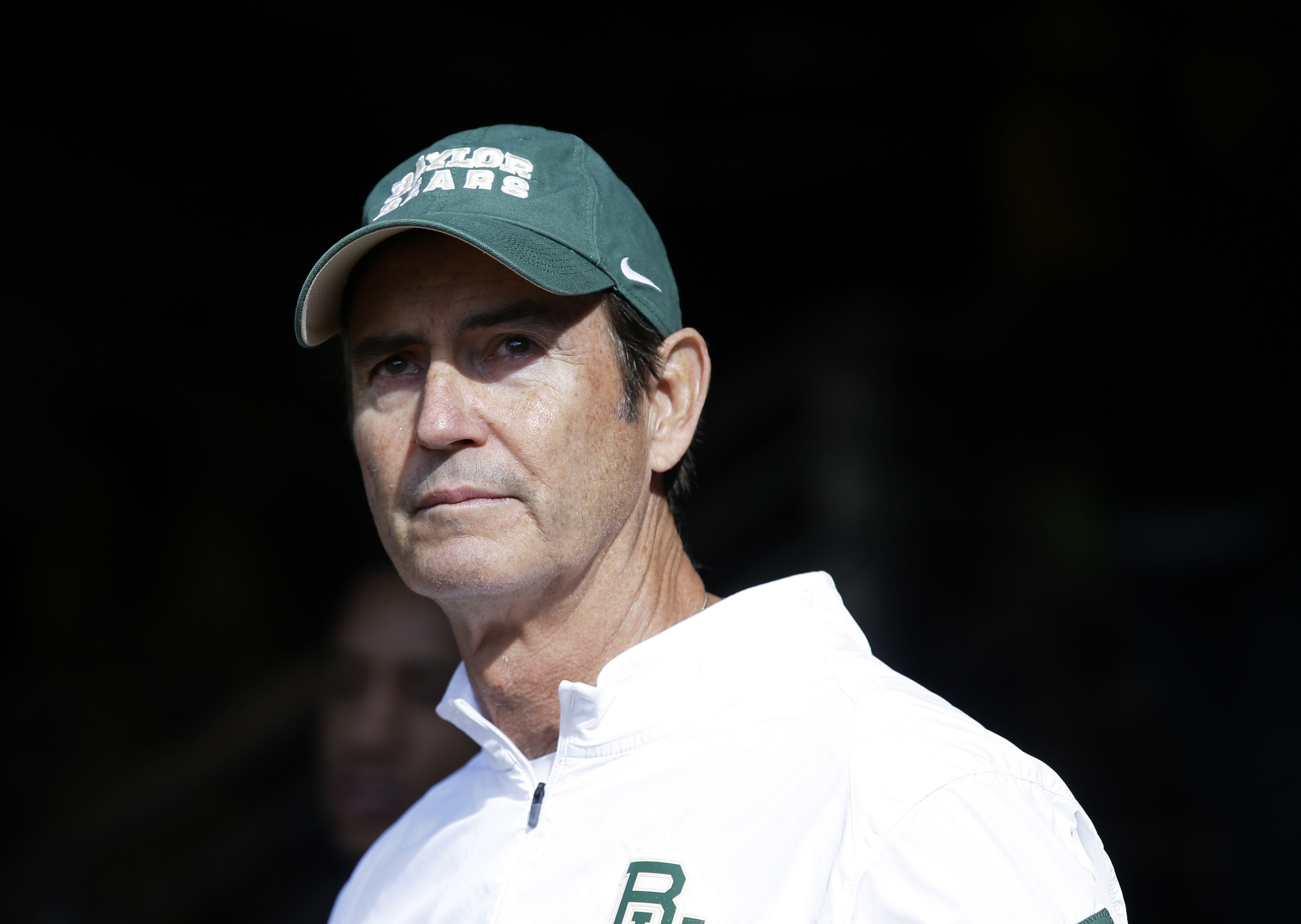 FILE - In this Dec. 5, 2015, file photo, Baylor coach Art Briles stands in the tunnel before the team's NCAA college football game against Texas in Waco, Texas. Former Baylor coach Briles is confident he will get another chance and says he has learned som