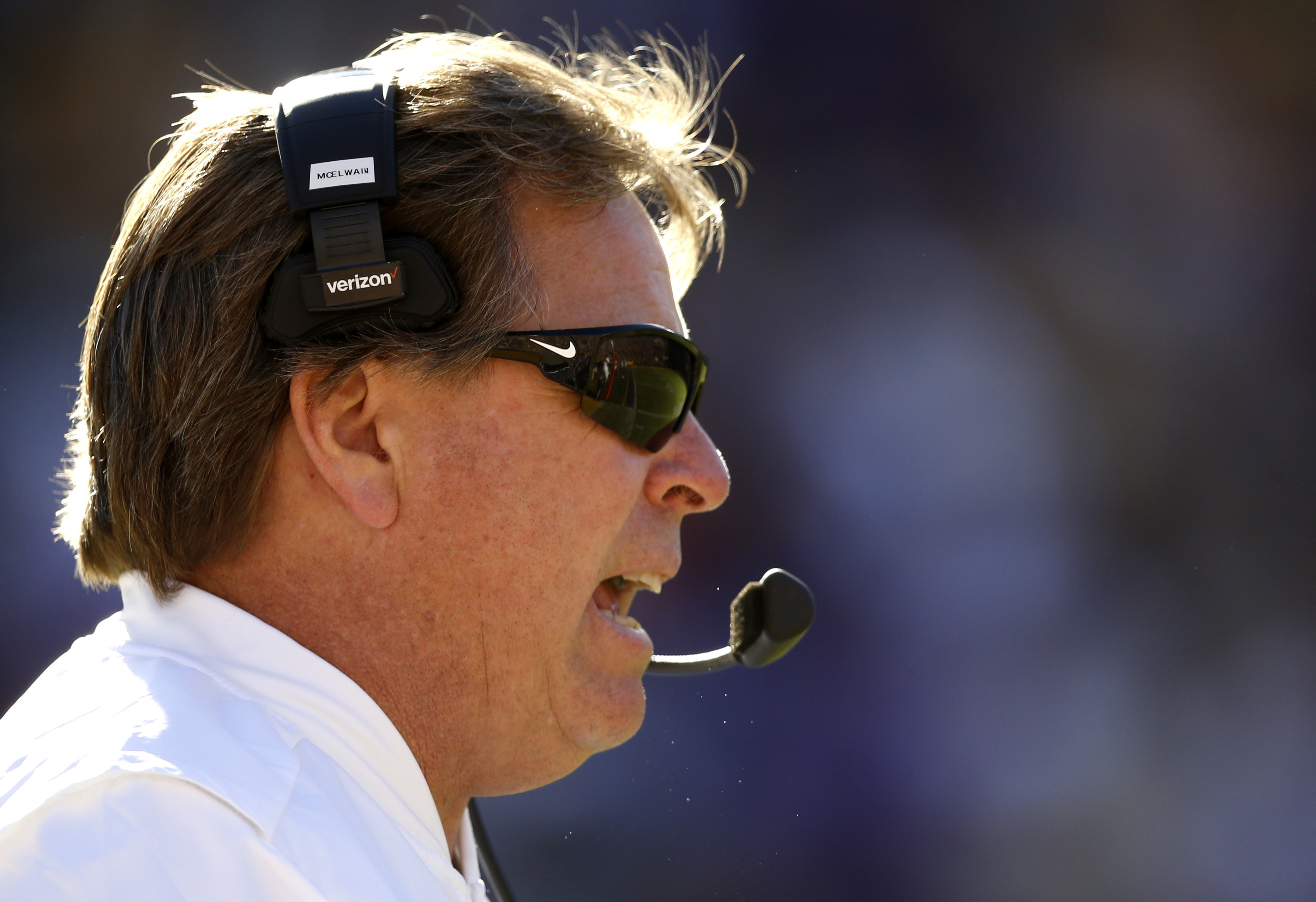 Florida head coach Jim McElwain watches from the sideline in the second half an NCAA college football game against LSU in Baton Rouge, La., Saturday, Nov. 19, 2016. Florida won 16-10. (AP Photo/Gerald Herbert)
