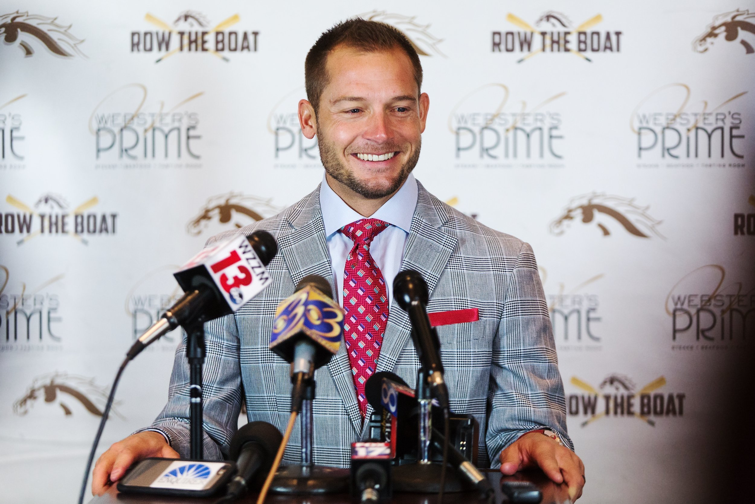Western Michigan coach P.J. Fleck speaks during an NCAA college football press conference in Kalamazoo, Mich., on Tuesday, Nov. 29, 2016. Western Michigan takes on Ohio in the Mid-American Conference championship game on Friday in Detroit. (Bryan Bennett/