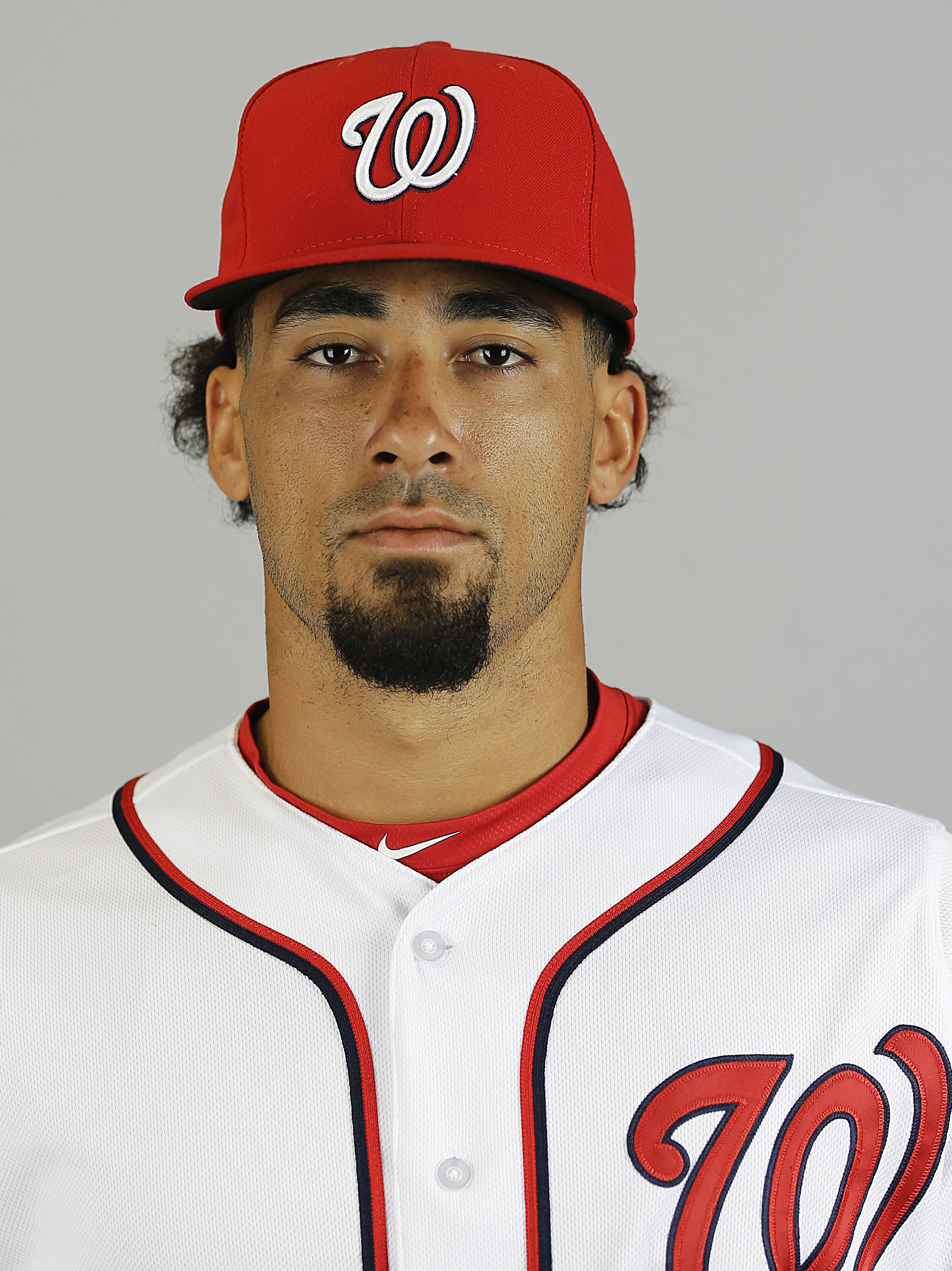 File-This is a 2015 file photo of Ian Desmond of the Washington Nationals baseball team. A baseball official with knowledge of the deal says free agent Desmond has agreed to a one-year deal with the Texas Rangers. The person spoke to The Associated Press