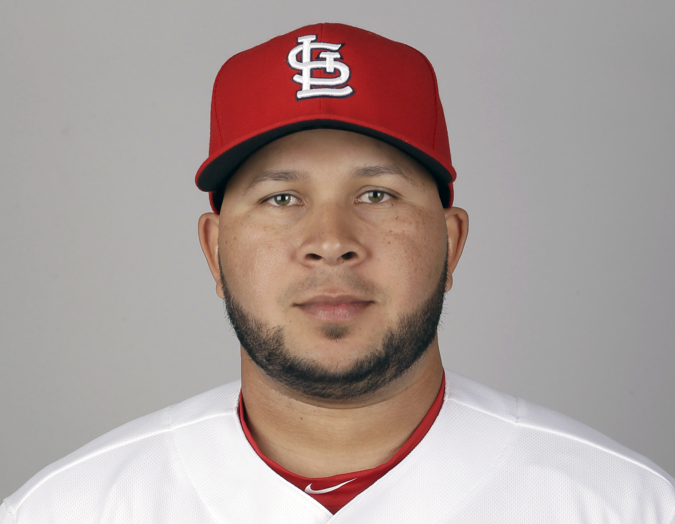 FILE - This is a 2016 photo showing Jhonny Peralta of the St. Louis Cardinals baseball team. St. Louis shortstop Jhonny Peralta injured his left thumb and could miss the first two months of the season. Cardinals general manager John Mozeliak said Peralta
