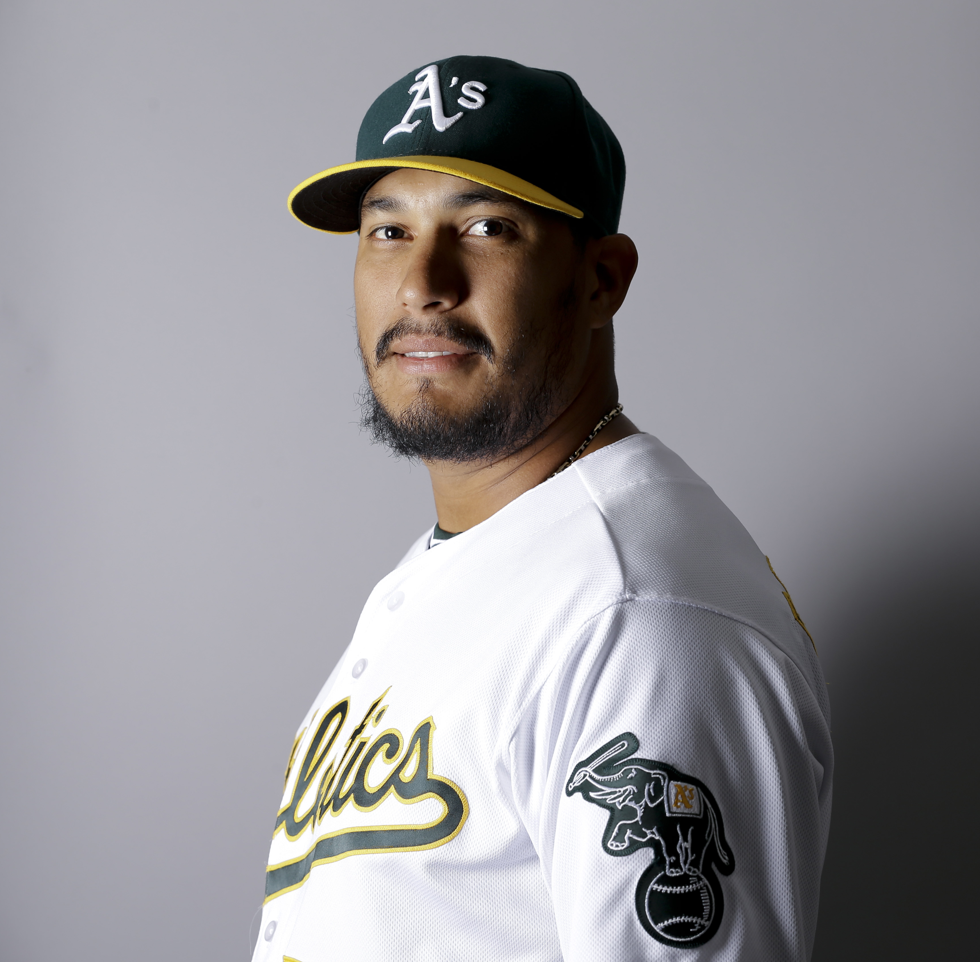 This is a 2016 photo of Felix Doubront of the Oakland Athletics baseball team. Doubront will undergo season-ending elbow surgery, a blow to the Athletics already thin rotation. Doubront was examined by orthopedic surgeon Dr. Timothy Kremchek in Cincinnati