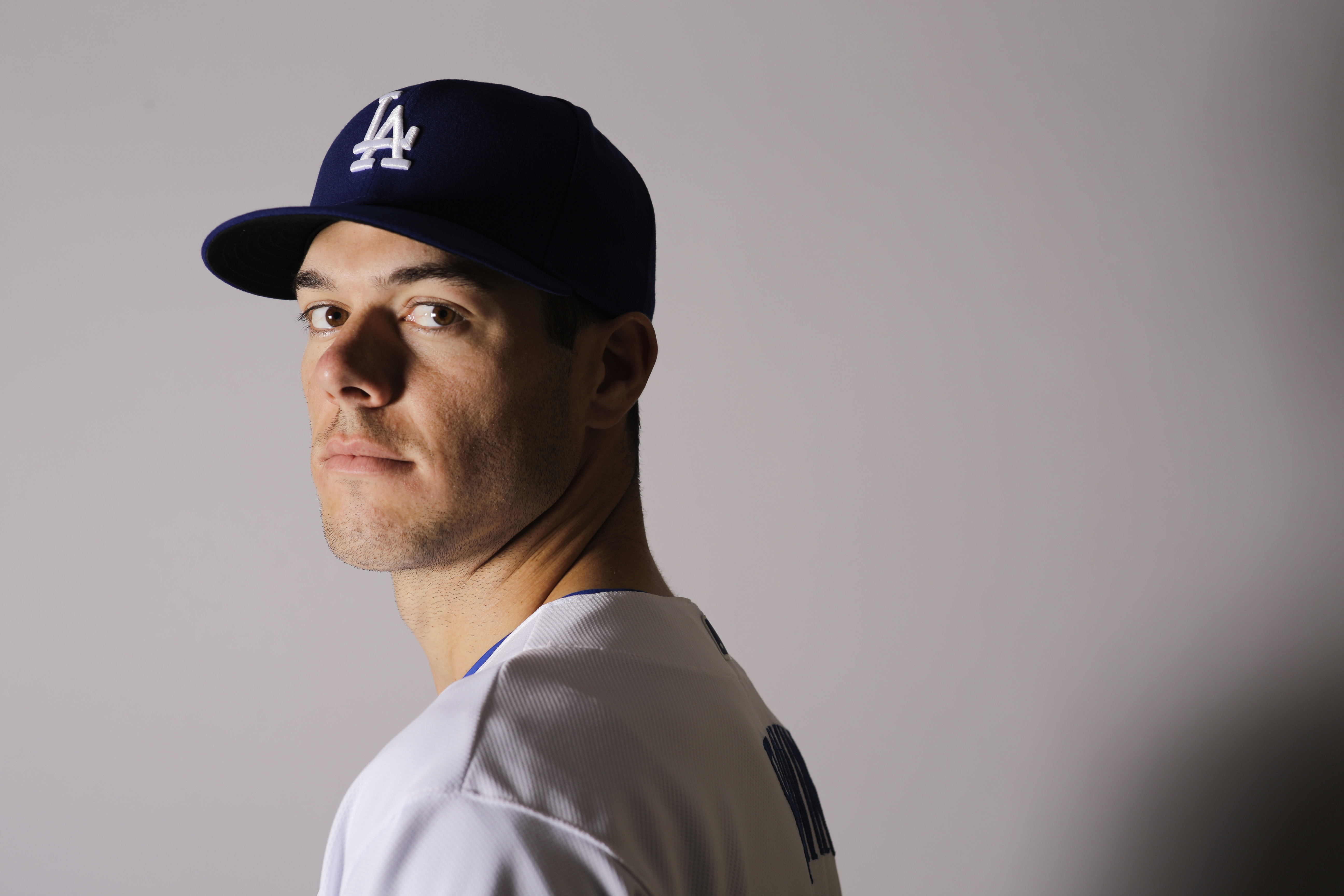 This Saturday, Feb. 27, 2016 photo shows Josh Ravin of the Los Angeles Dodgers baseball team. Ravin has been suspended for 80 games following a positive test under Major League Baseball's drug program. He tested positive for Growth Hormone Releasing Pepti