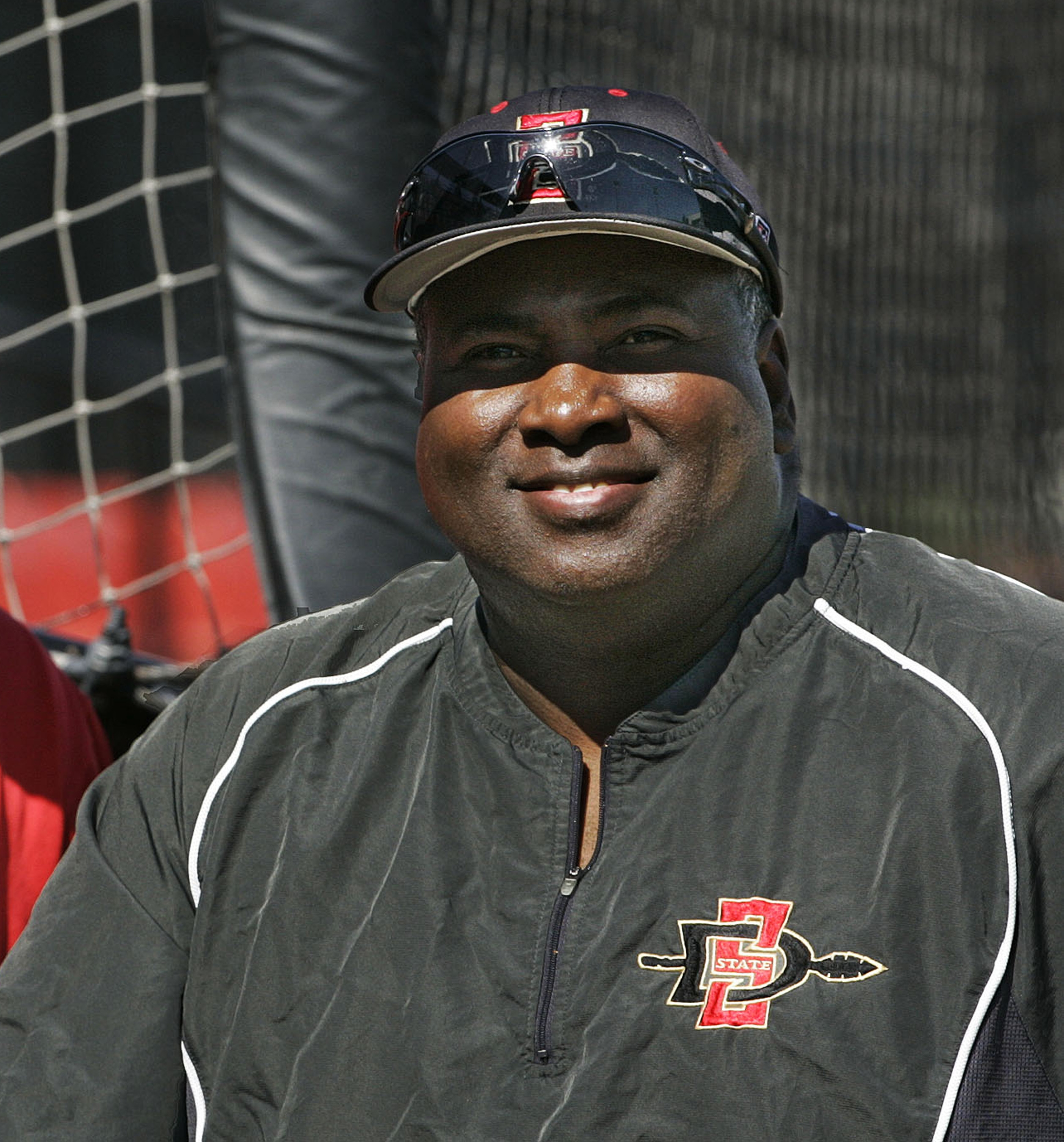 FILE - This Feb. 18, 2009, file photo shows San Diego State baseball coach and Hall of Fame baseball player Tony Gywnn, posing at the team's field, in San Diego. Gwynn says he has cancer in a salivary gland. He told The San Diego Union-Tribune, in a story
