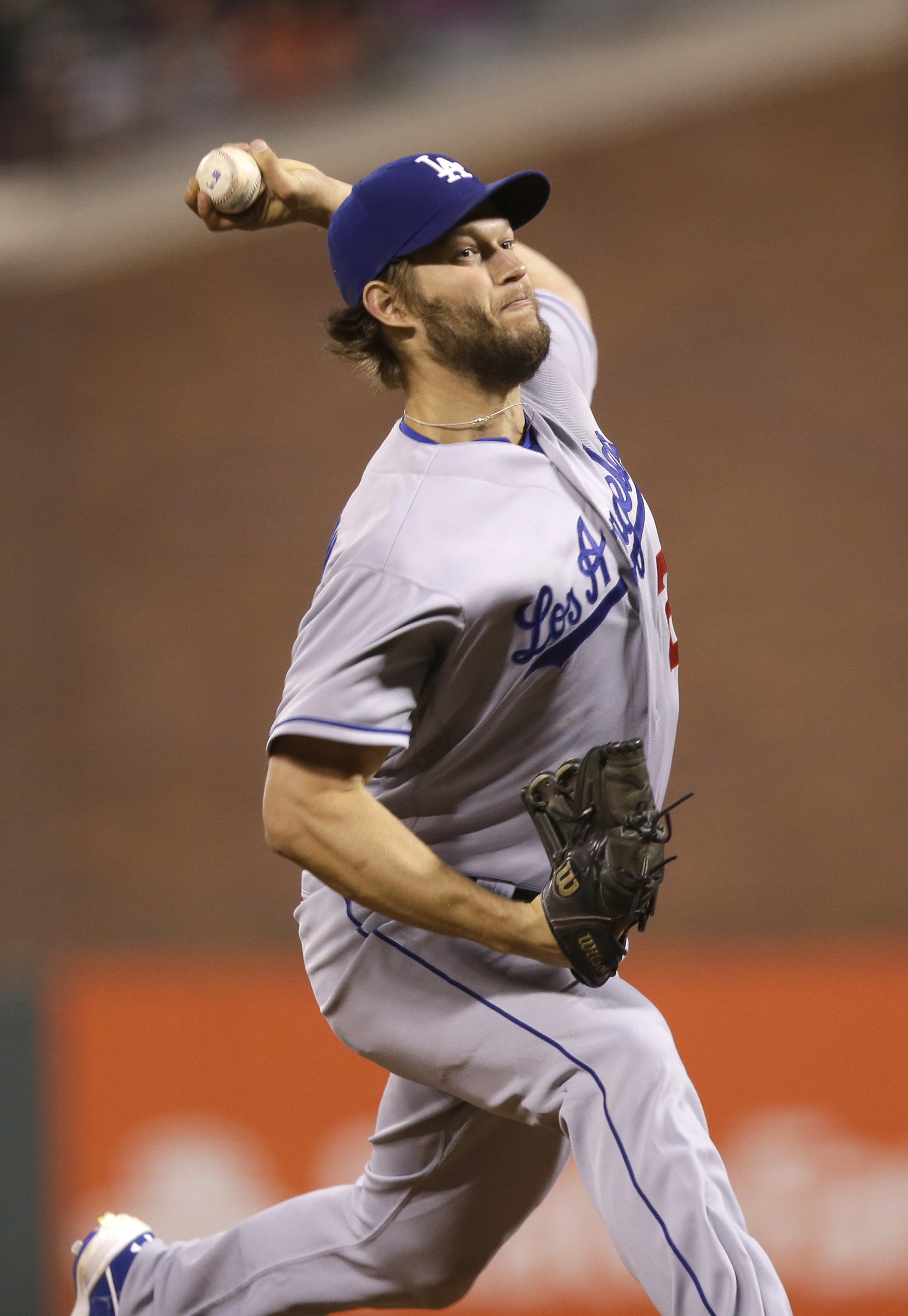 Los Angeles Dodgers starting pitcher Clayton Kershaw throws to the San Francisco Giants during the fifth inning of a baseball game Friday, June 10, 2016, in San Francisco. (AP Photo/Marcio Jose Sanchez)