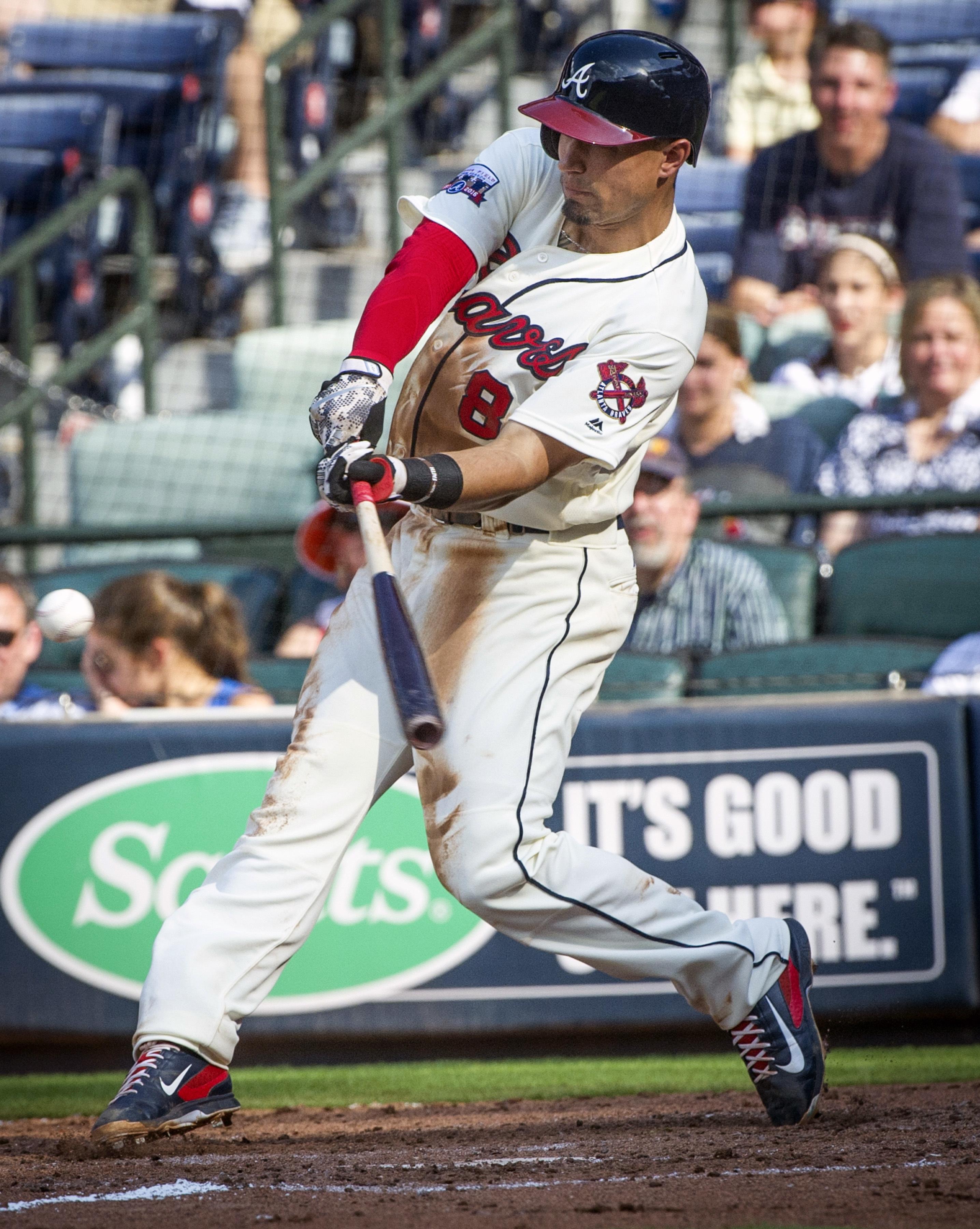 Atlanta Braves' Jace Peterson hits a three-run home run to right field during the sixth inning of a baseball game against the Miami Marlins, Saturday, July 2, 2016, in Atlanta. (AP Photo/John Amis)