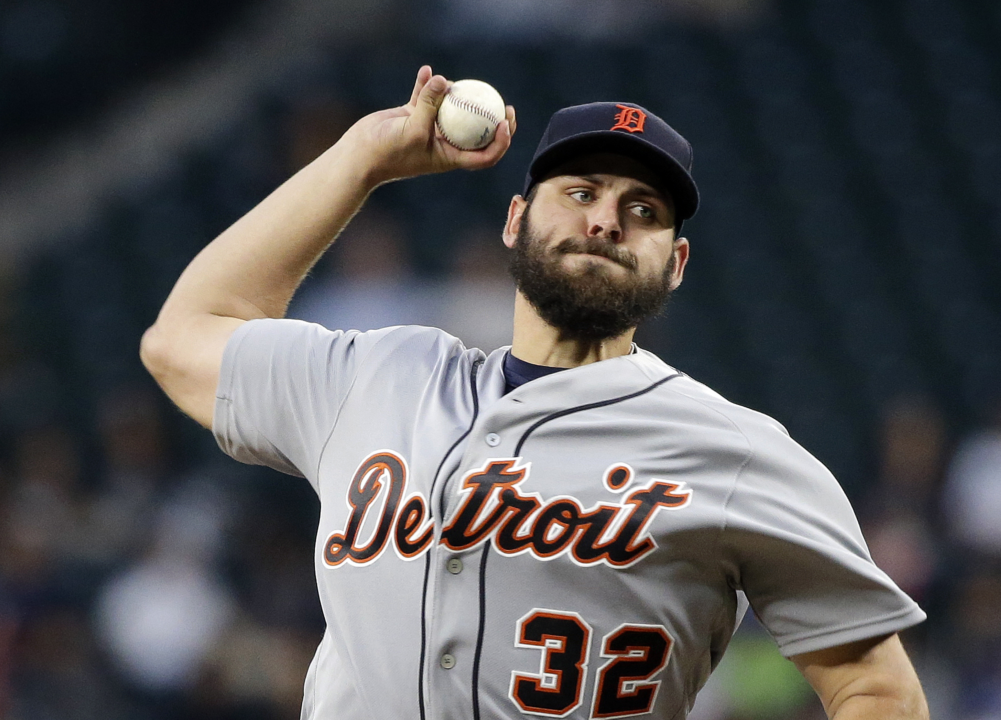 Detroit Tigers starting pitcher Michael Fulmer throws against the Seattle Mariners in the fourth inning of a baseball game, Monday, Aug. 8, 2016, in Seattle. (AP Photo/Elaine Thompson)