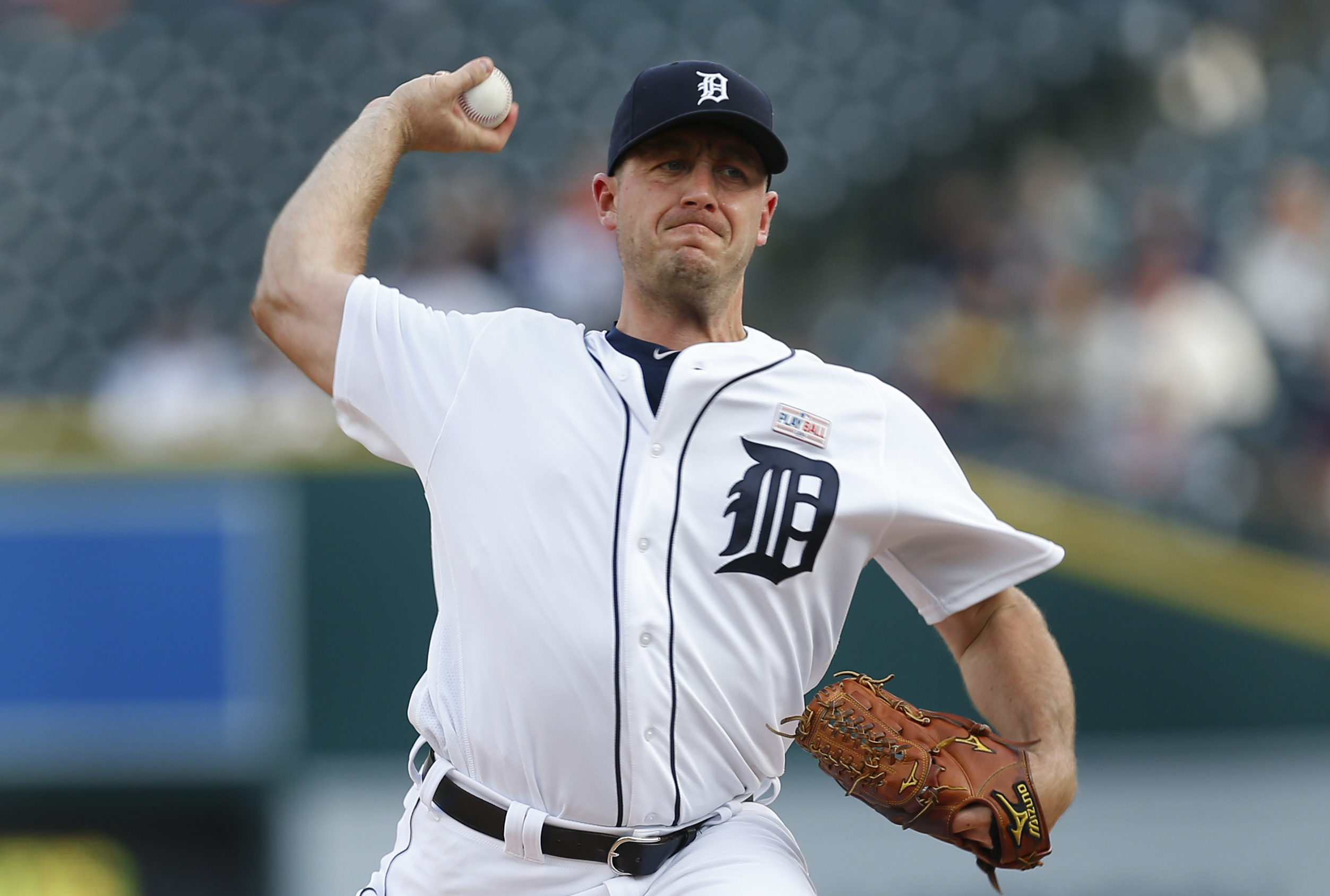 FILE - In this May 16, 2016, file photo, Detroit Tigers pitcher Jordan Zimmermann throws against the Minnesota Twins during a baseball game in Detroit. Zimmermann has been activated from the disabled list and is scheduled to start Saturday, Sept. 10, agai