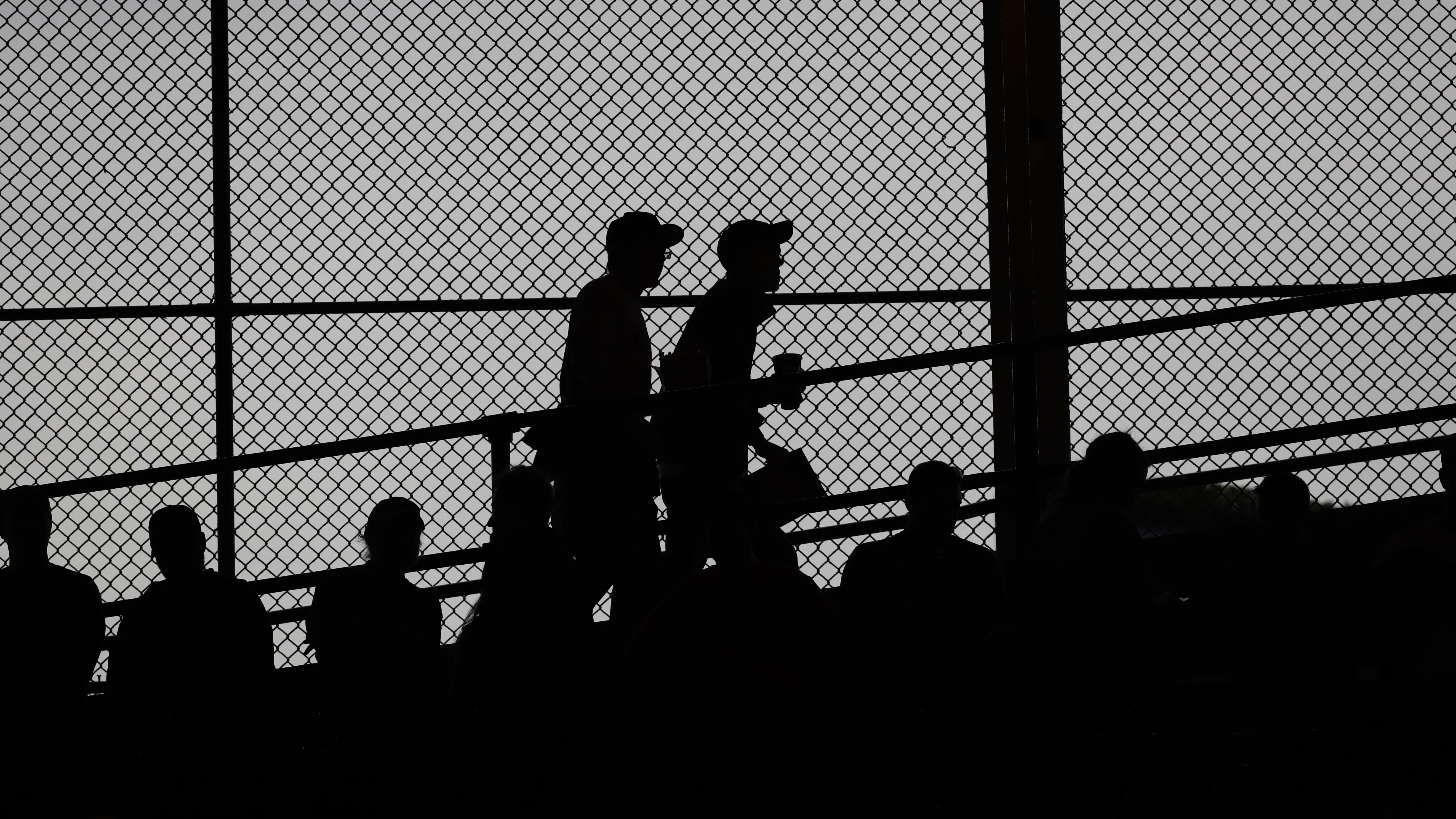 Fans make their way to their seats at Wrigley Field before Game 4 of the Major League Baseball World Series between the Cleveland Indians and the Chicago Cubs Saturday, Oct. 29, 2016, in Chicago. (AP Photo/David J. Phillip)