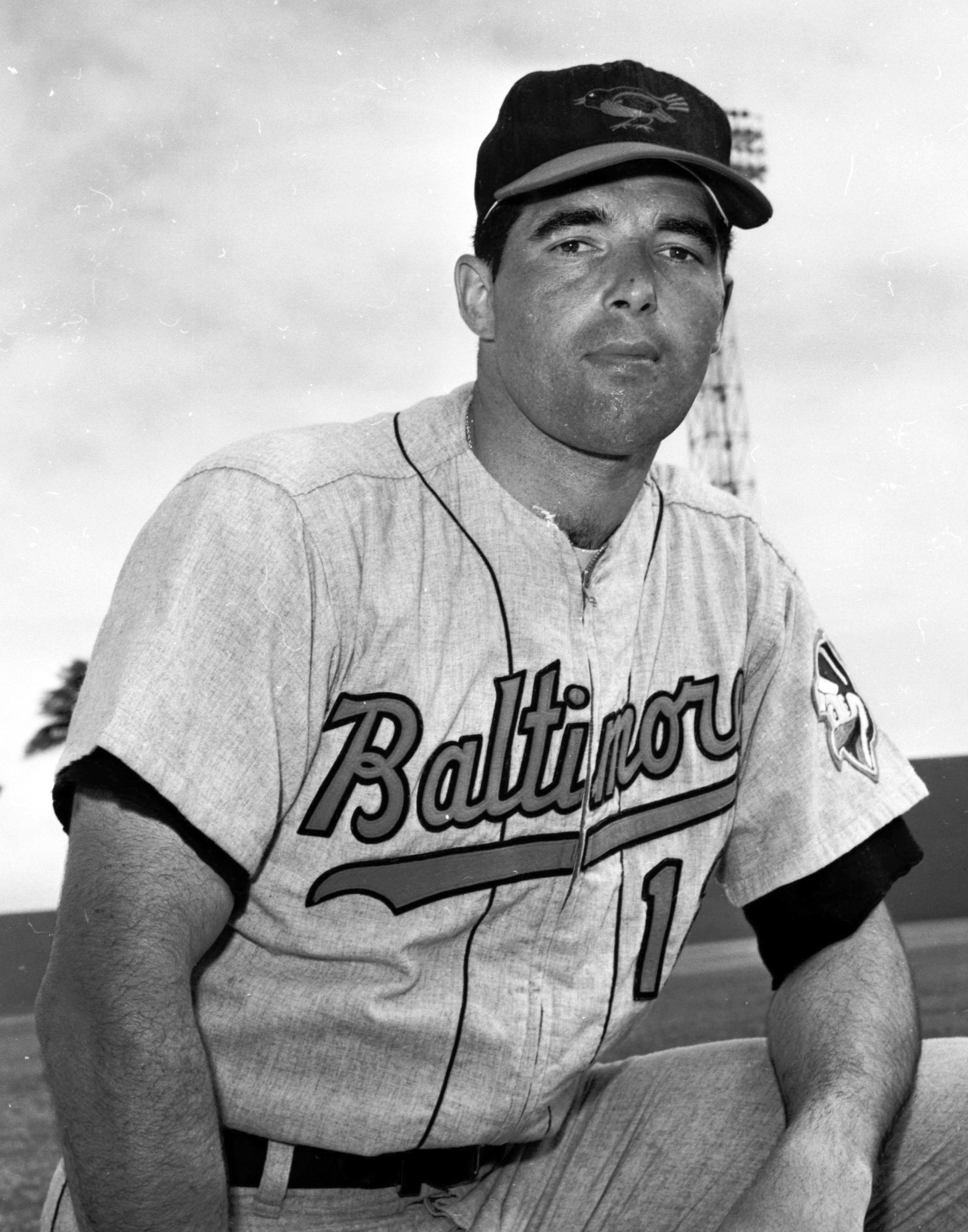 FILE - In this March 1964, file photo, Baltimore Orioles catcher John Orsino poses for a photo. Orsino, who spent seven seasons in the major leagues with the Giants (1961-62), Baltimore (1963-65) and Washington (1966-67), has died. He was 78. Orsino died