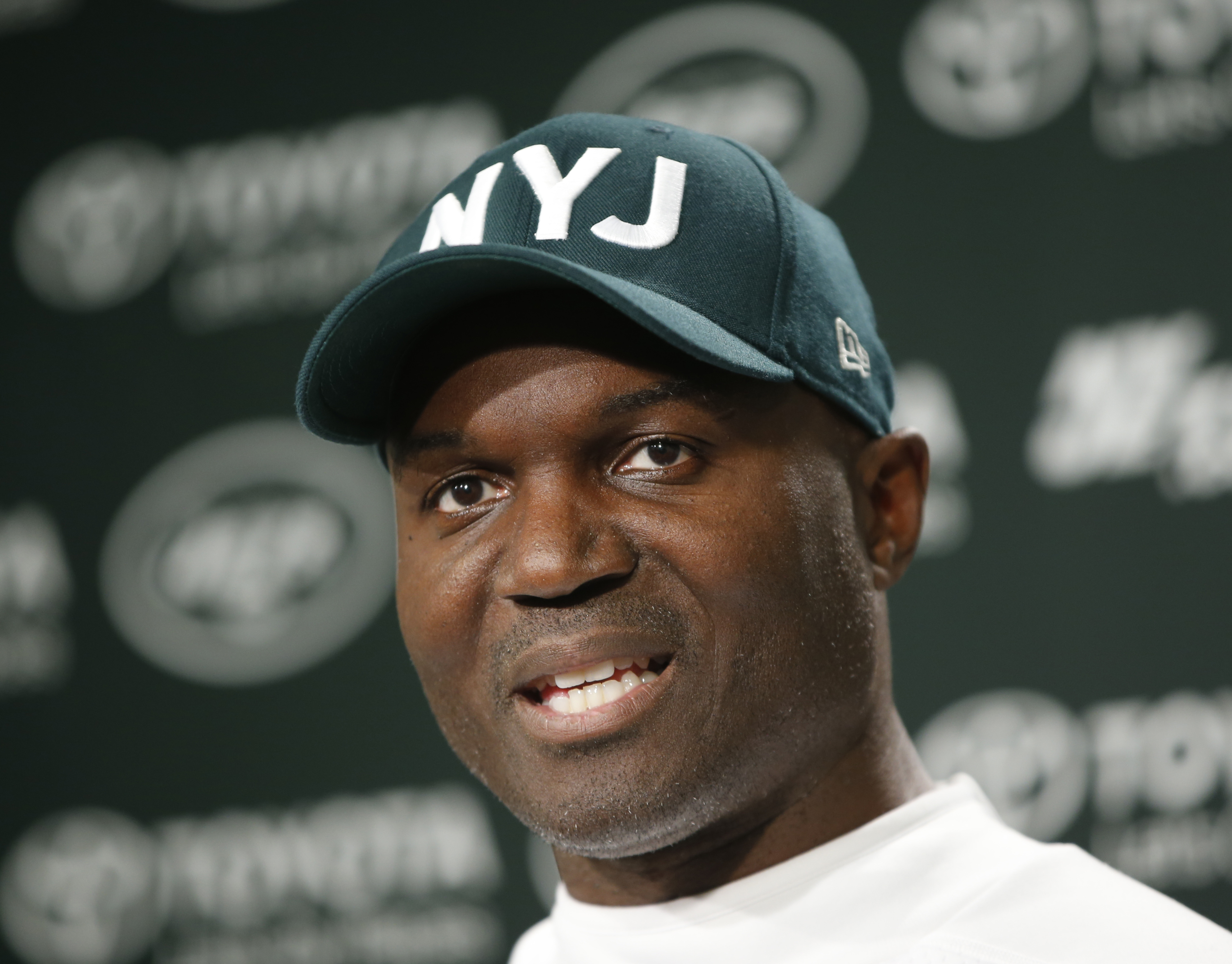 New York Jets head coach Todd Bowles speaks during an NFL football press conference at the team's training facility, Wednesday, Dec. 30, 2015, in Florham Park, NJ.  The Jets are preparing for Sunday's game against the Buffalo Bills and Jets former coach R