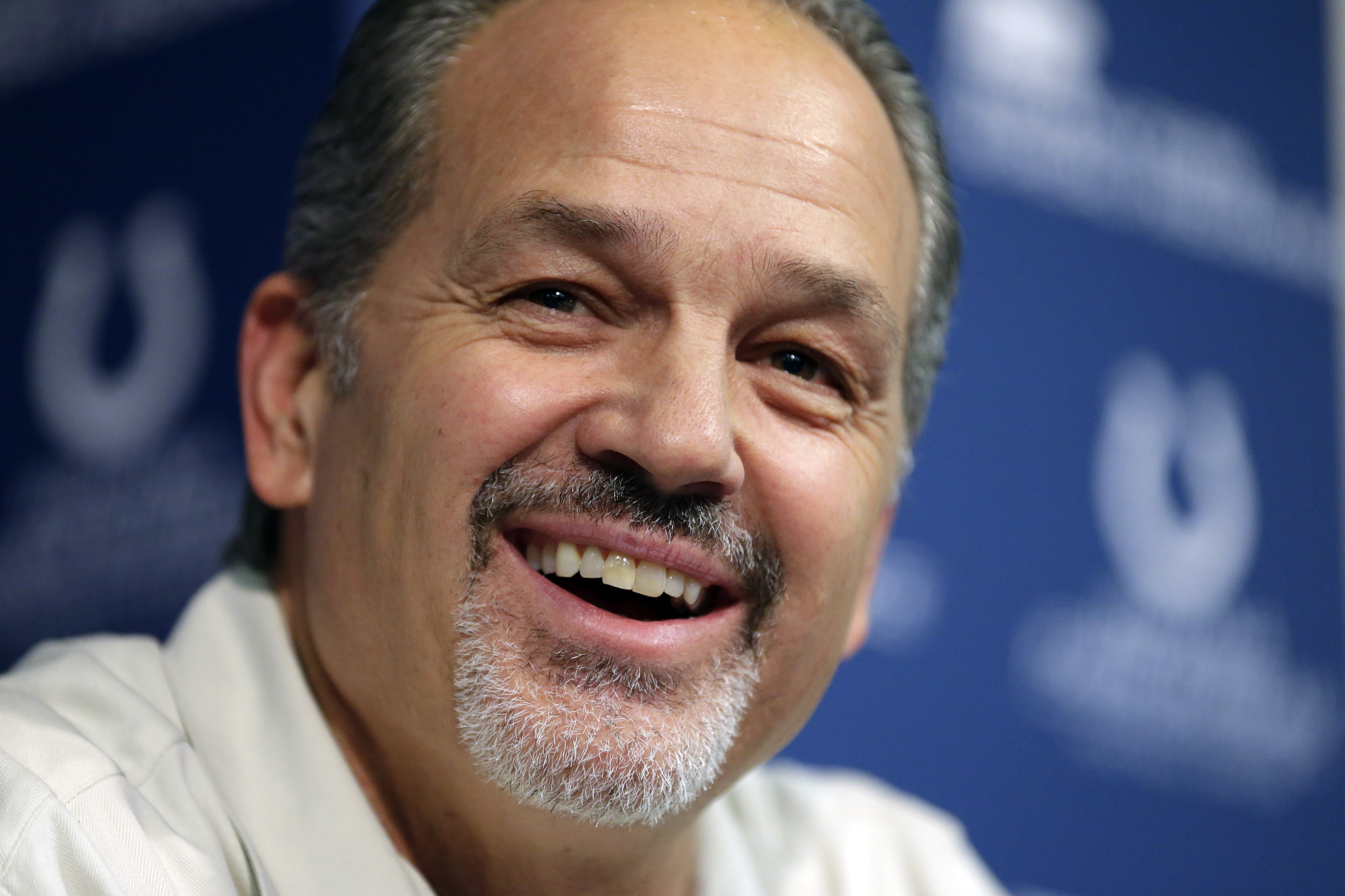 Indianapolis Colts head coach Chuck Pagano speaks after the announcement of his contract extension during a press conference at the NFL team's practice facility in Indianapolis, Monday, Jan. 4, 2016. (AP Photo/Michael Conroy)