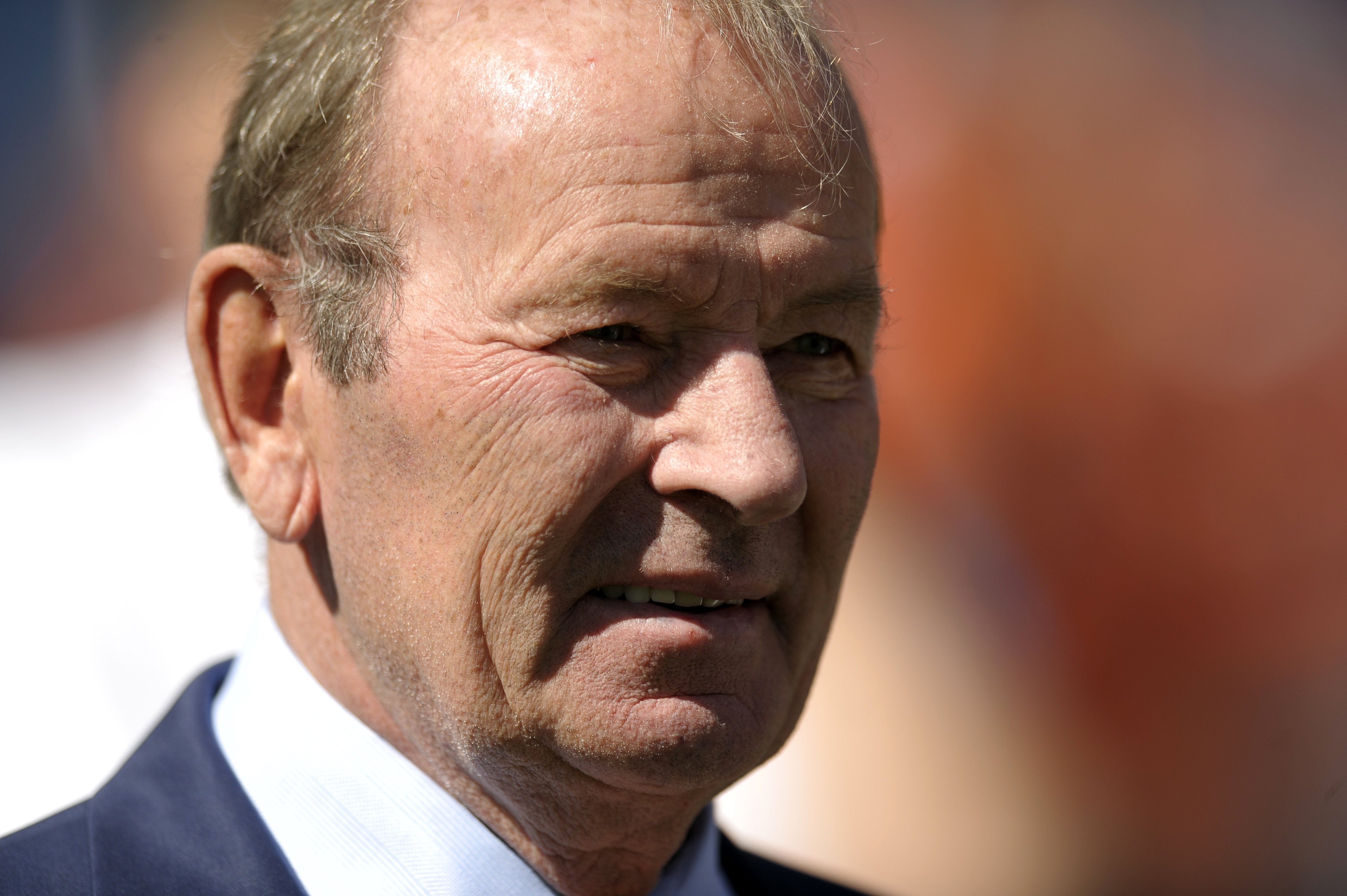 FILE - This is a Sept. 29, 2013 file photo showing Denver Broncos owner Pat Bowlen looking on during an NFL game against the Philadelphia Eagles in Denver. Former Denver Broncos' John Elway wants nothing more than to return the favor to team owner Pat Bow