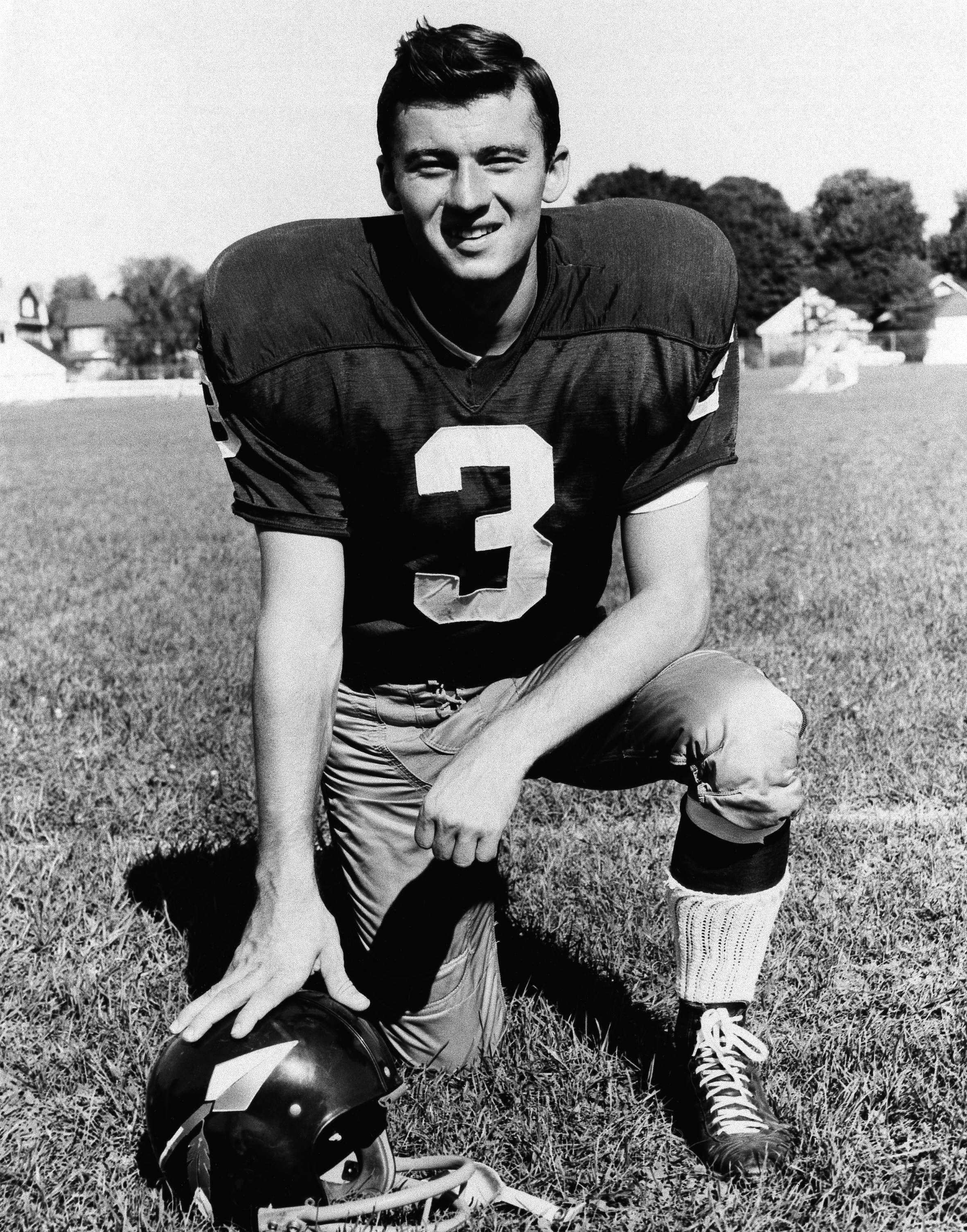 FILE - In this 1966 file photo, football player Charlie Gogolak of the Washington Redskins poses for a photo. One of the first soccer style kickers in football, Gogolak was the first kicker selected in the first round when he was taken sixth overall by th