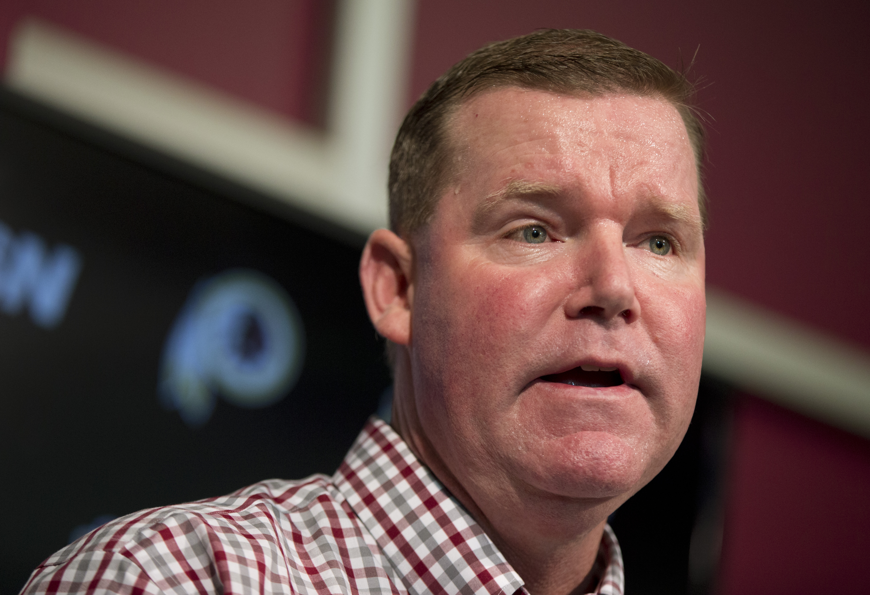 Washington Redskins general manager Scot McCloughan speaks during a news conference at Redskins Park in Ashburn, Va., Monday, April 25, 2016.    (AP Photo/Manuel Balce Ceneta)