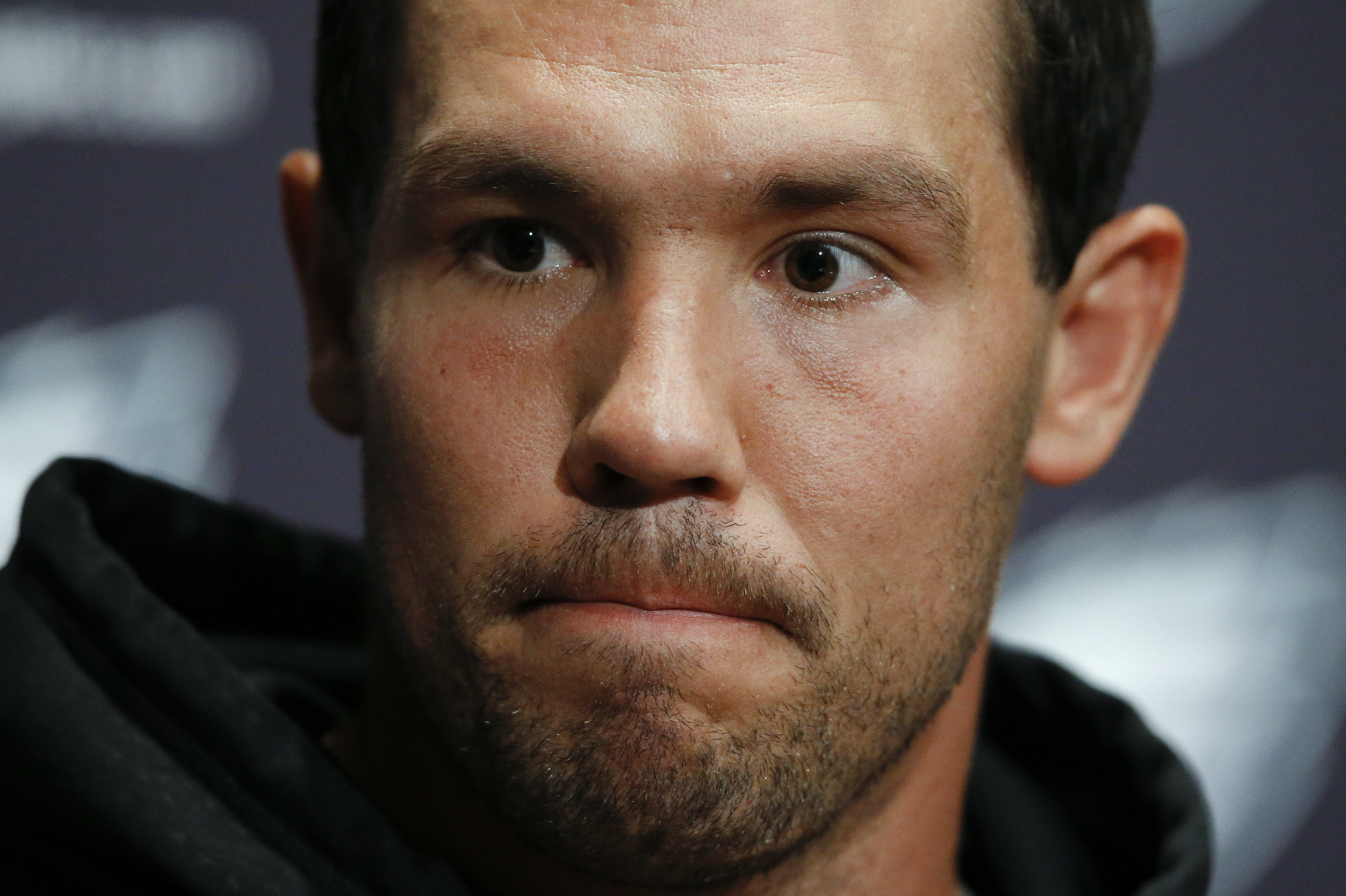 Philadelphia Eagles quarterback Sam Bradford speaks with members of the media during a news conference at the team's NFL football training facility, Tuesday, May 17, 2016, in Philadelphia. (AP Photo/Matt Rourke)