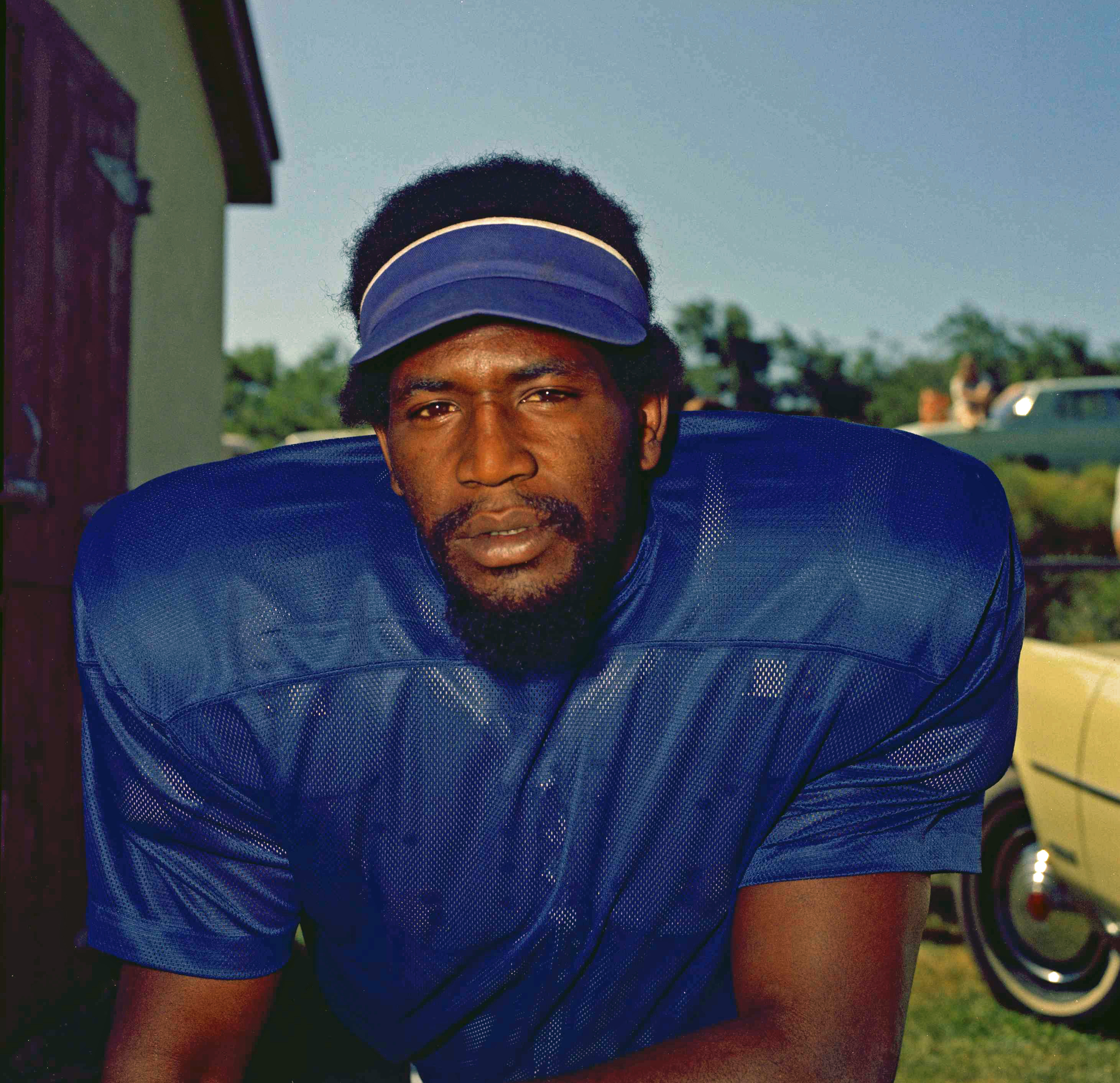 FILe - This is a 1972, file photo, showing Baltimore Colts defensive end Bubba Smith. The Concussion Legacy Foundation says former NFL defensive end Bubba Smith was diagnosed with the brain disease CTE by researchers after his death.  (AP Photo/File)