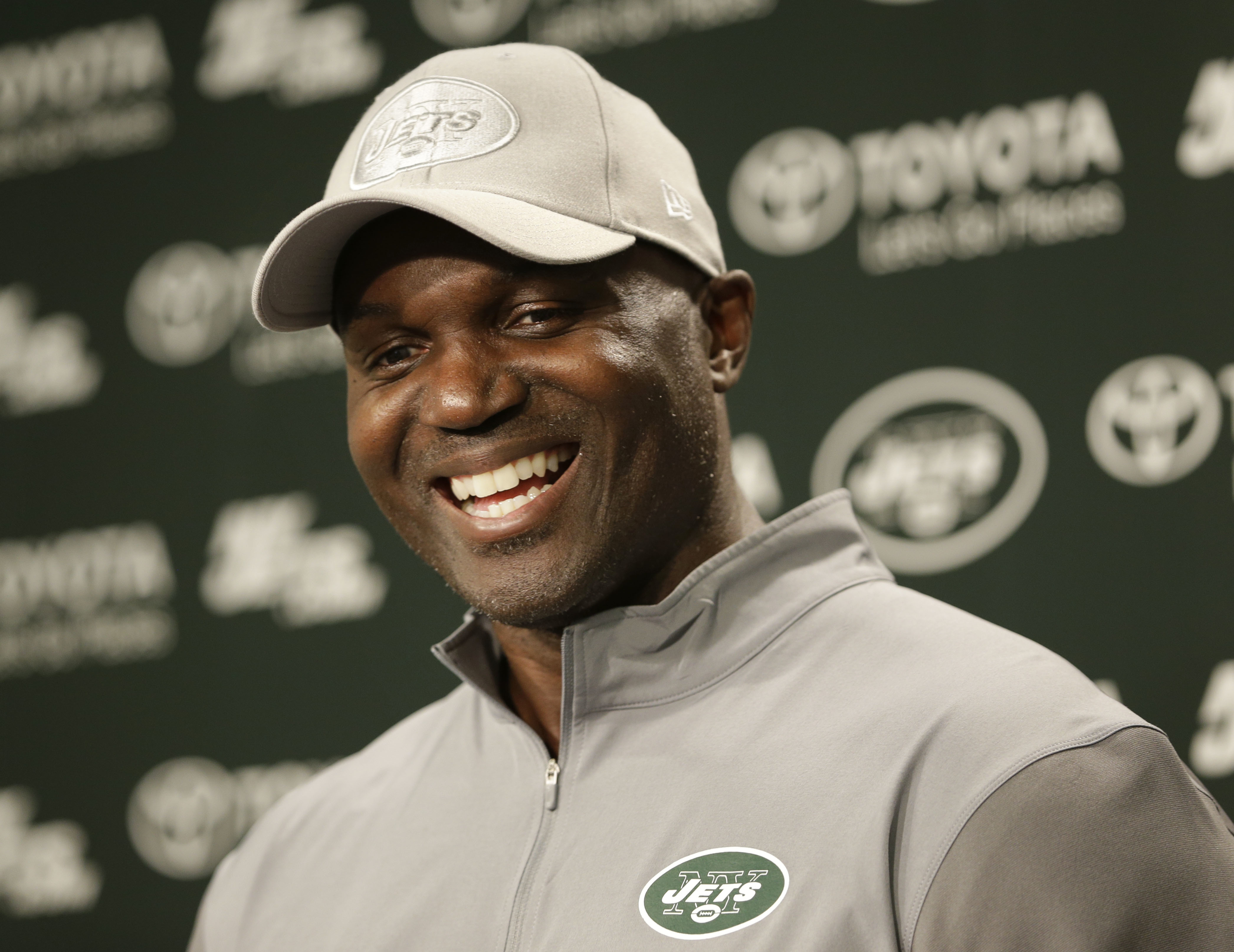New York Jets coach Todd Bowles speaks to reporters after a NFL football practice in Florham Park, N.J., Wednesday, June 15, 2016. (AP Photo/Seth Wenig)