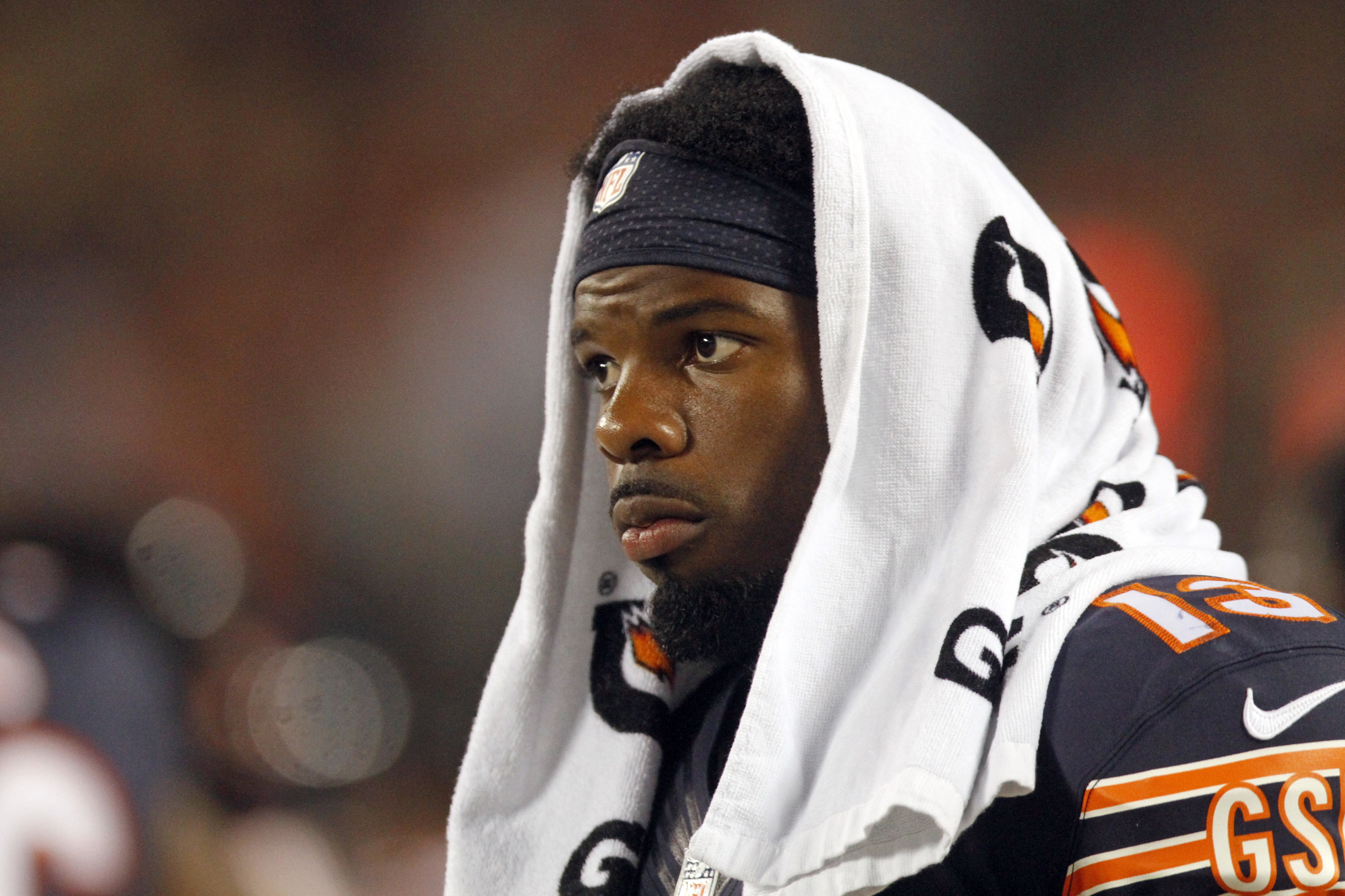 Chicago Bears wide receiver Kevin White watches from the sideline during the second half of the team's NFL preseason football game against the Denver Broncos in Chicago, Thursday, Aug. 11, 2016. (AP Photo/Tae-Gyun Kim)