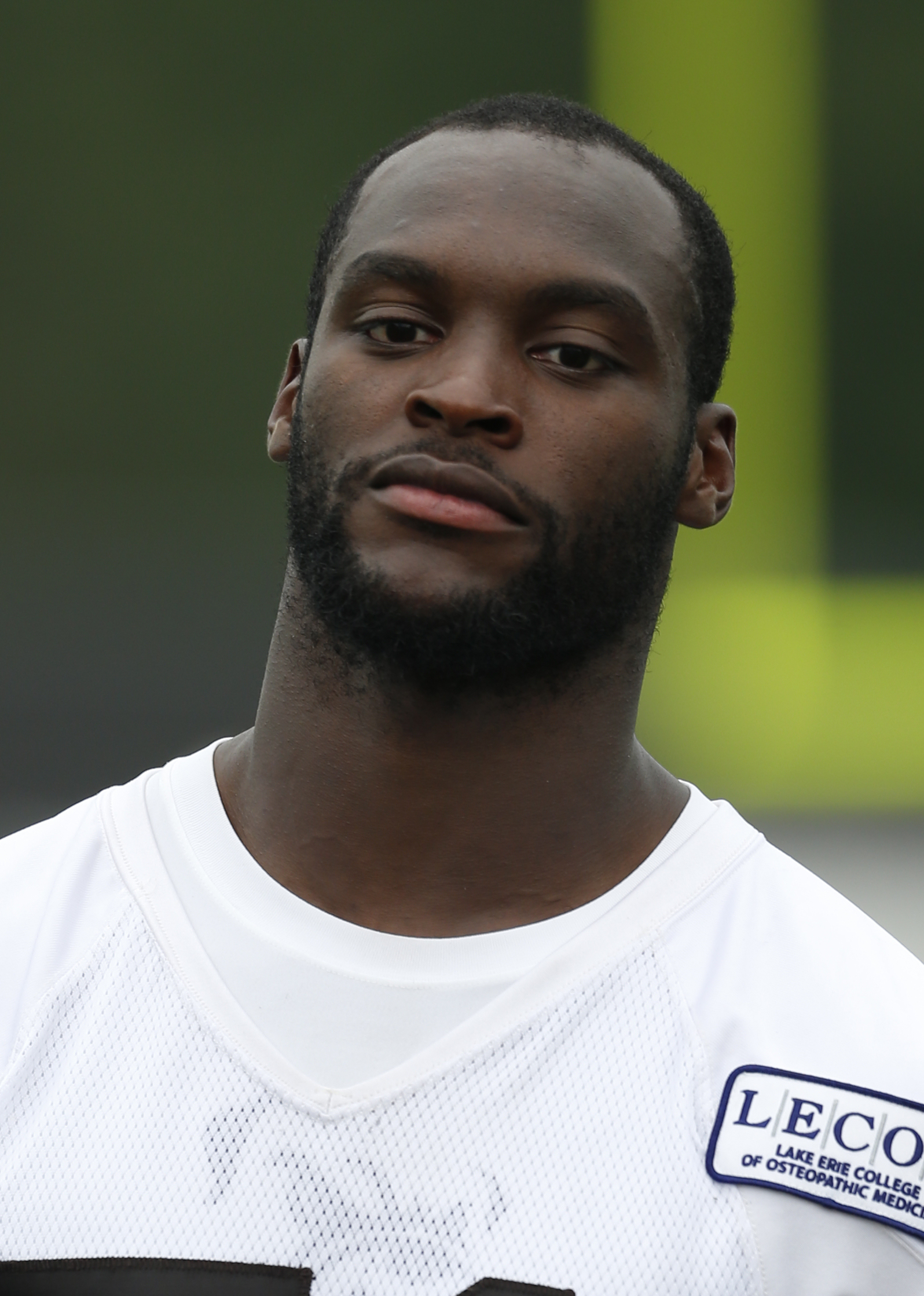 Cleveland Browns outside linebacker Barkevious Mingo during practice at the NFL football team's training camp Friday, July 29, 2016, in Berea, Ohio. (AP Photo/Ron Schwane)