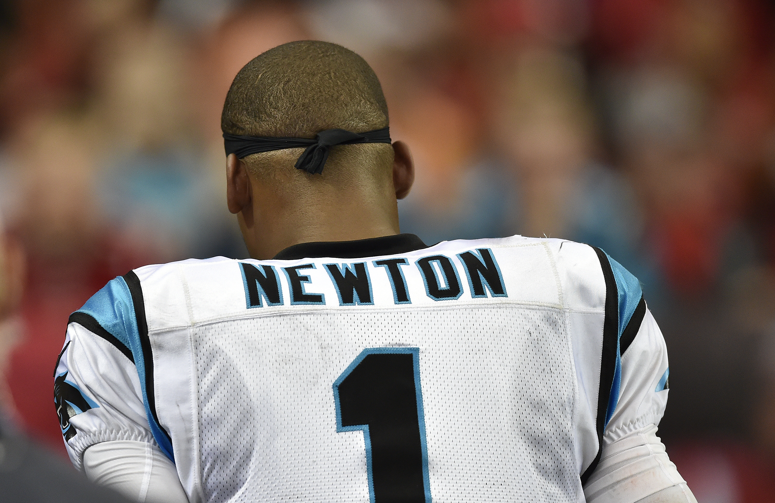FILE - In this Sunday, Oct. 2, 2016, file photo, Carolina Panthers quarterback Cam Newton (1) leaves the field during the second half of an NFL football game against the Atlanta Falcons in Atlanta. The Panthers are hoping Newton can get back on the field