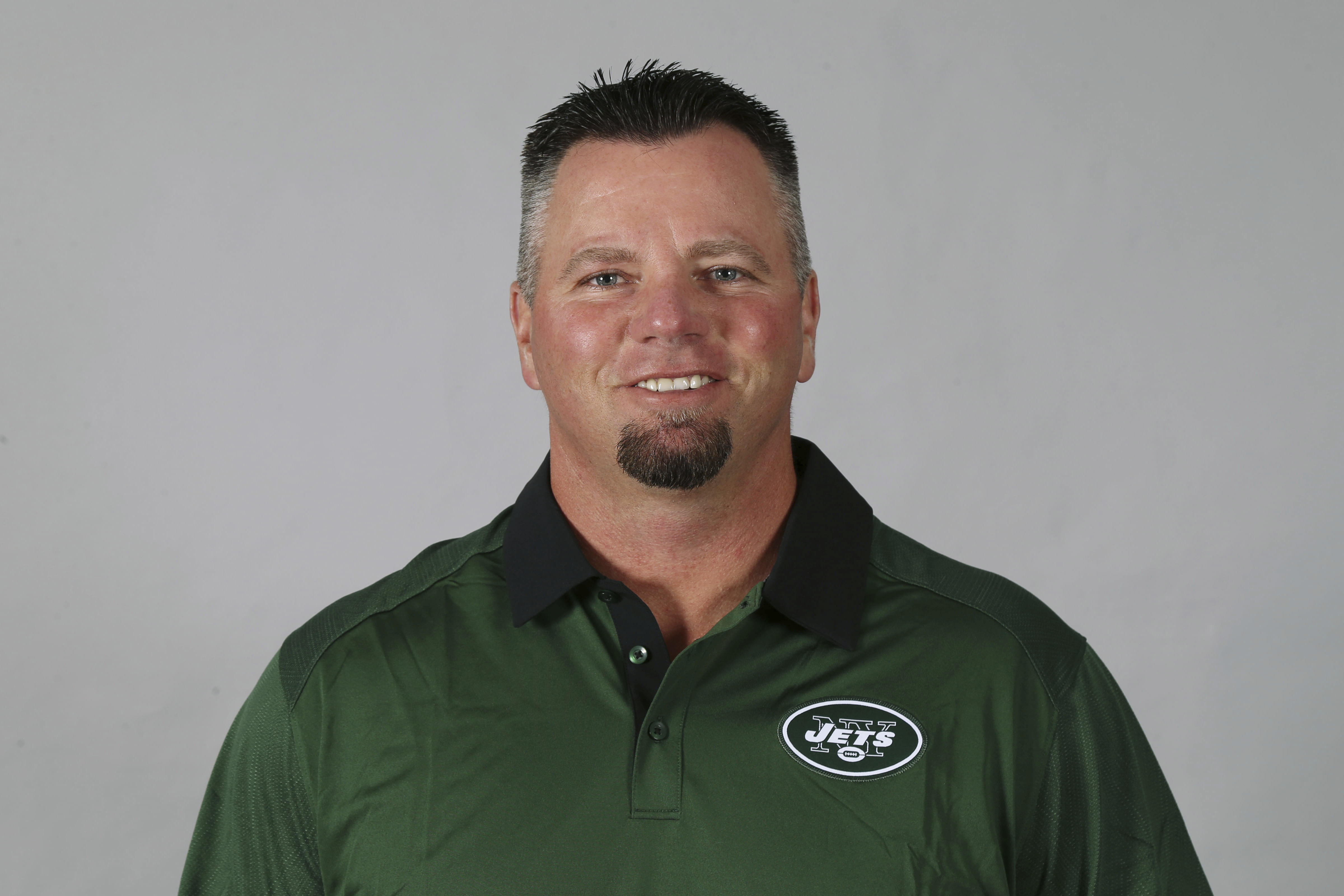 This 2016 photo shows Brant Boyer of the New York Jets NFL football team. The mistakes and missed opportunities have cost the New York Jets, and that has weighed heavily on Brant Boyer. His special teams unit is struggling through an especially bad year.