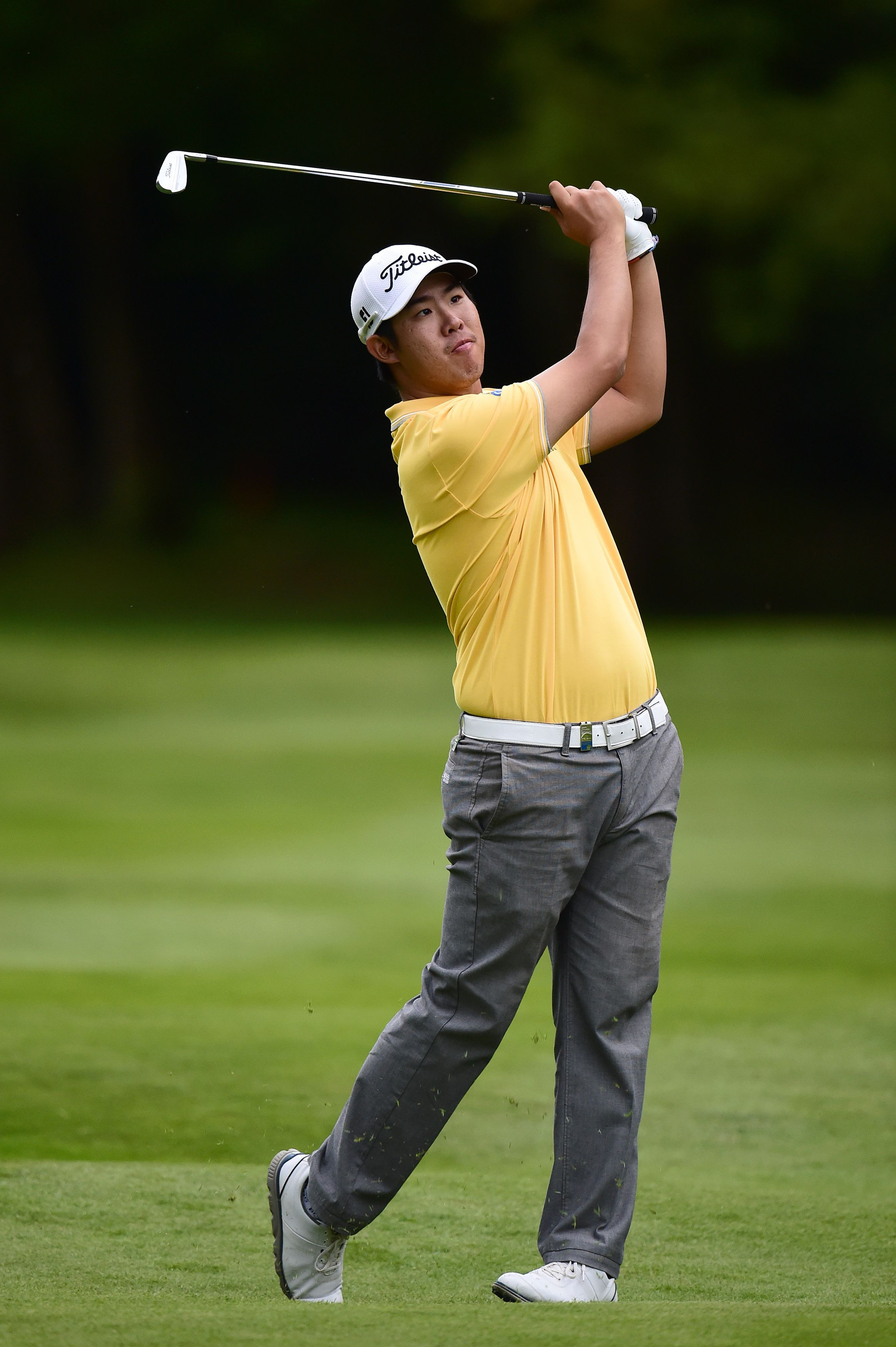 Korea's Byeong Hun An during day two of the BMW PGA Championship at the Wentworth golf club, Virgina Water, England, Friday May 22, 2015. (Adam Davy/PA via AP) UNITED KINGDOM OUT  NO SALES  NO ARCHIVE