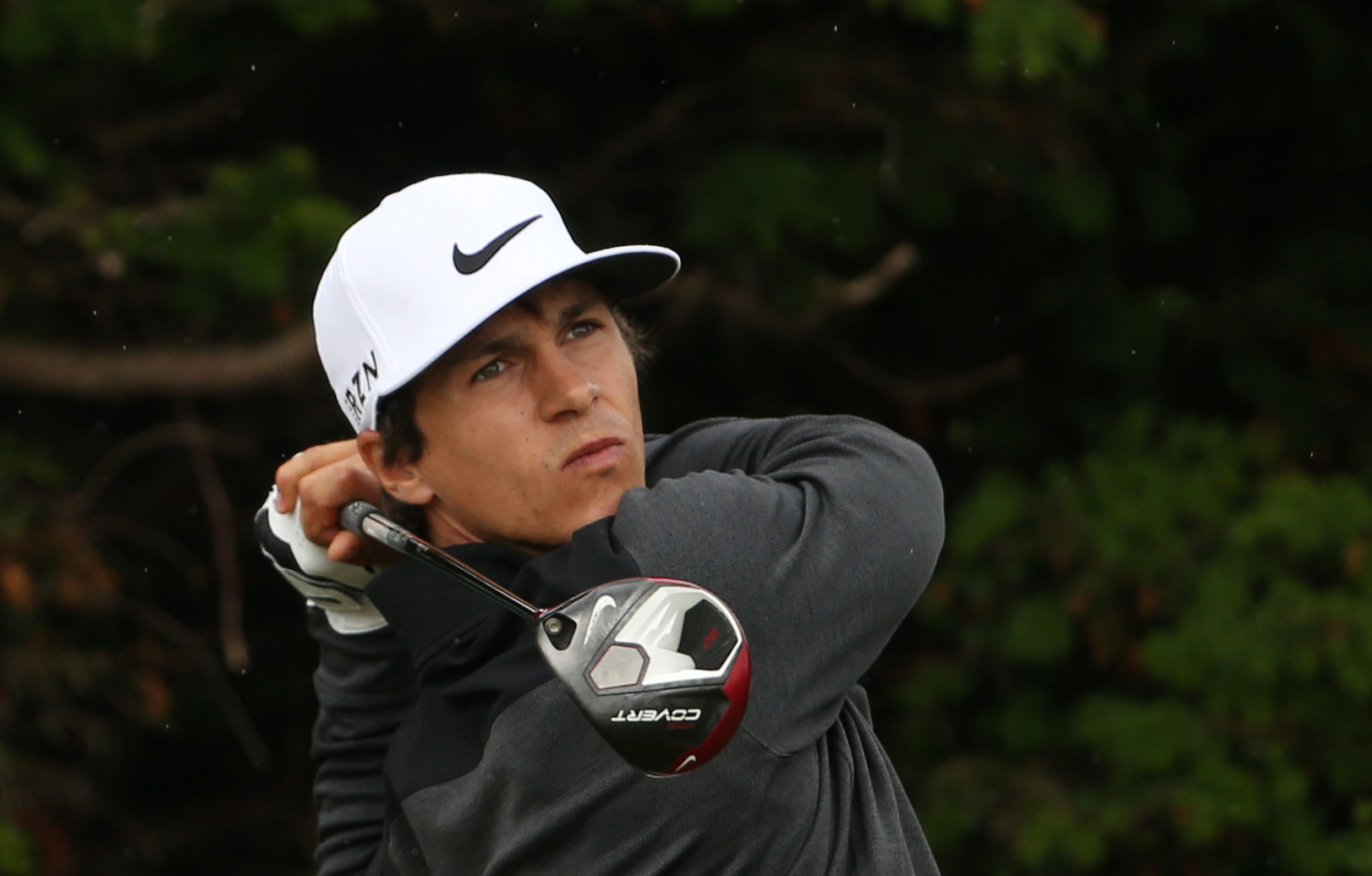 Thorbjorn Olesen of Denmark plays a shot off the 18th tee during a practice round ahead of the British Open Golf championship at the Royal Liverpool golf club, Hoylake, England, Wednesday July 16, 2014. The British Open Golf championship starts Thursday J