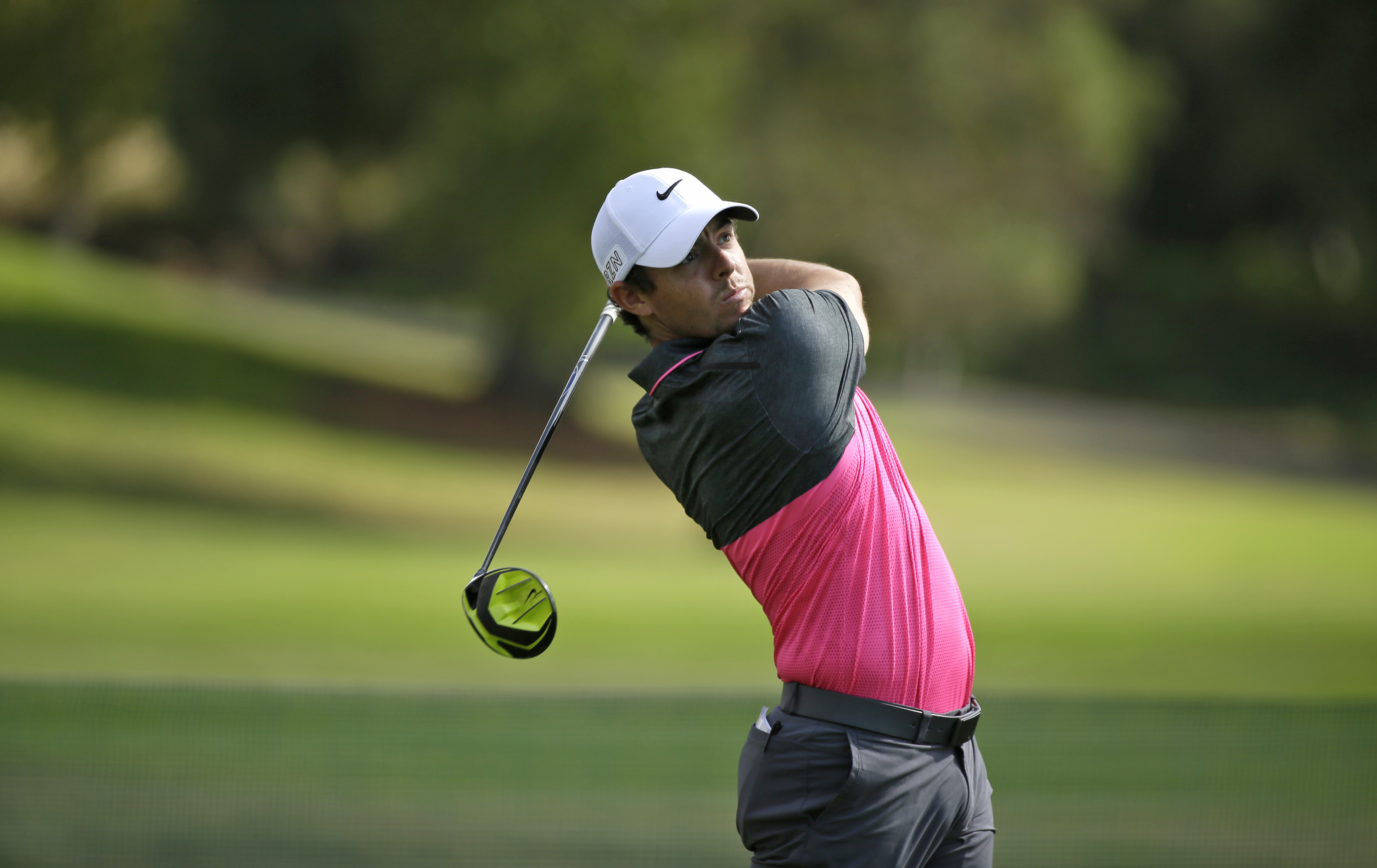 Rory McIlroy, of Northern Ireland, on the Silverado Resort North Course during the final round of the Frys.com PGA Tour golf tournament Sunday, Oct. 18, 2015, in Napa, Calif. (AP Photo/Eric Risberg)