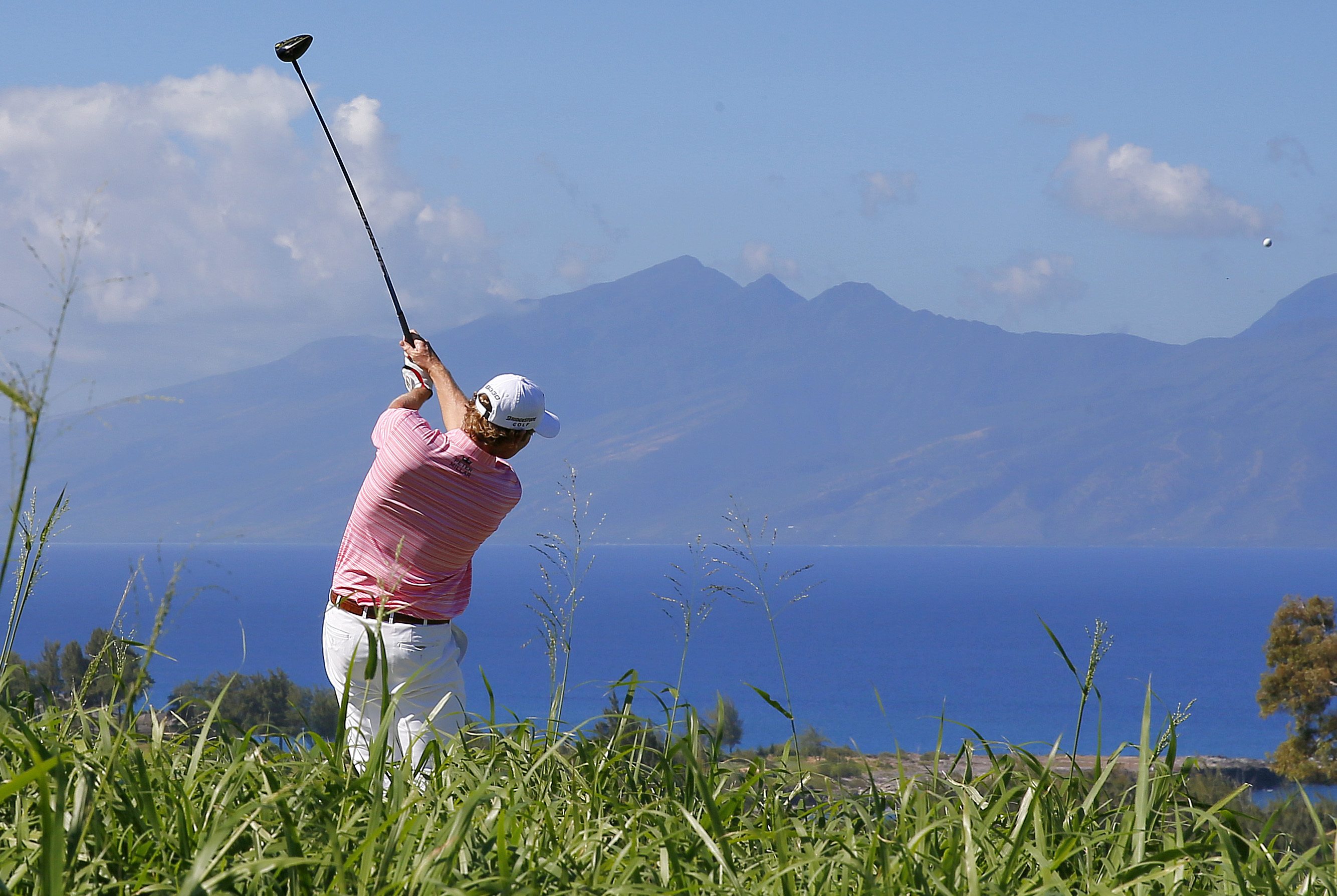 Brandt Snedeker hits from the seventh tee during the first round of the Tournament of Champions golf event Thursday, Jan. 7, 2016, at Kapalua Plantation Course in Kapalua, Hawaii. (AP Photo/Matt York)