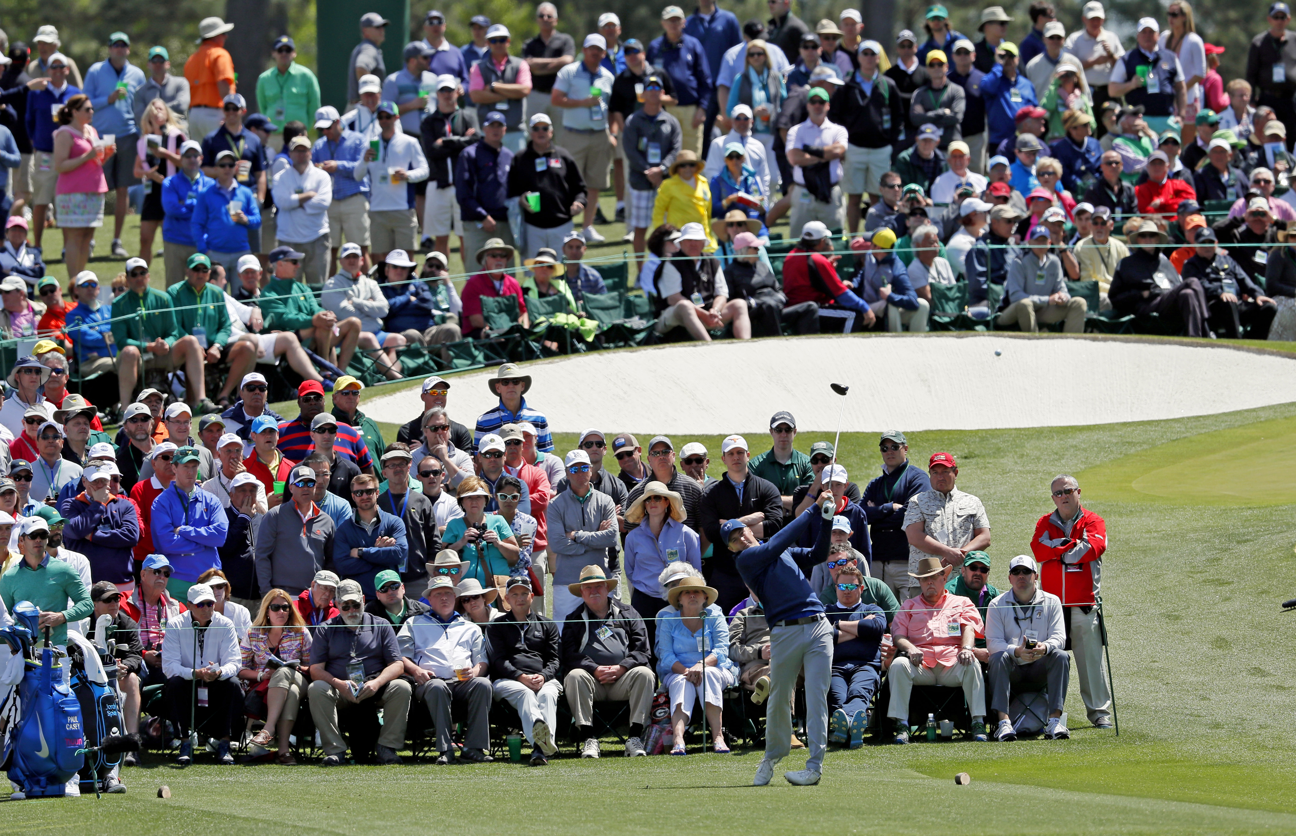 Jordan Spieth drives on the third hole during the second round of the Masters golf tournament Friday, April 8, 2016, in Augusta, Ga. (AP Photo/Matt Slocum)