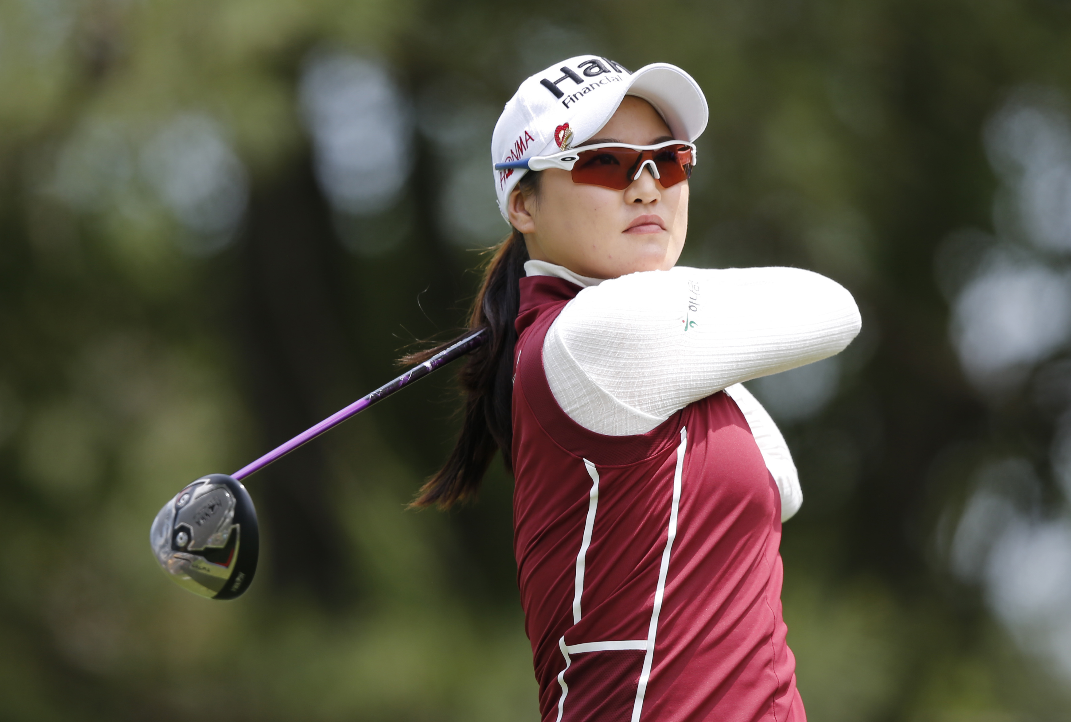 So Yeon Ryu, of South Korea, watches her tee shot on the ninth hole during the second round of the Kingsmill Championship golf tournament at the Kingsmill Resort in Williamsburg, Va., Friday, May 20, 2016. Ryu finished with a 7-under-par 64, leaving her a