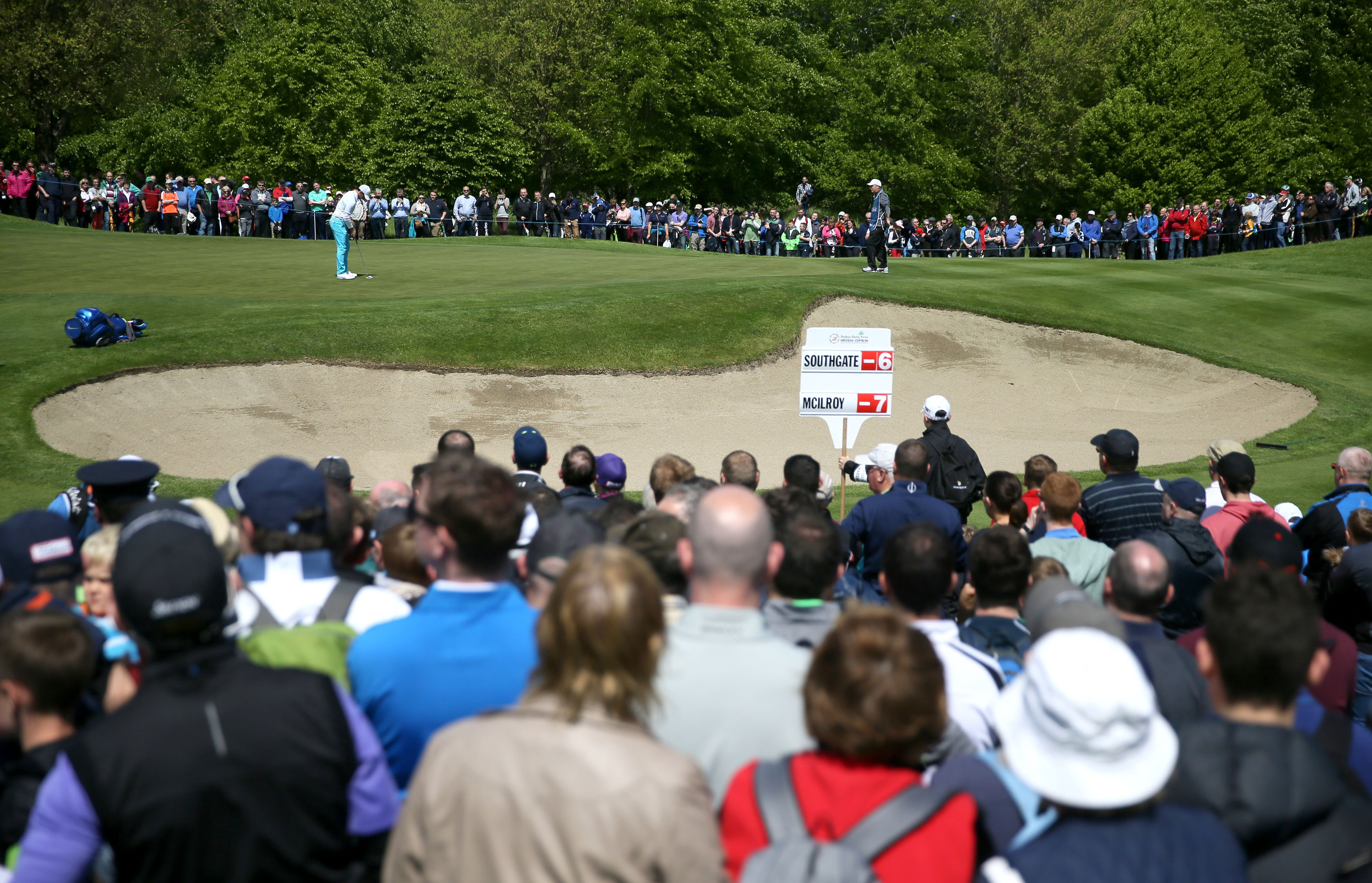 Northern Ireland's Rory McIlroy putts on the 2nd green during day three of the Irish Open at The K Club, County Kildare. Ireland. Saturday May 21, 2016. (Brian Lawless /PA via AP) UNITED KINGDOM OUT - NO SALES - NO ARCHIVES