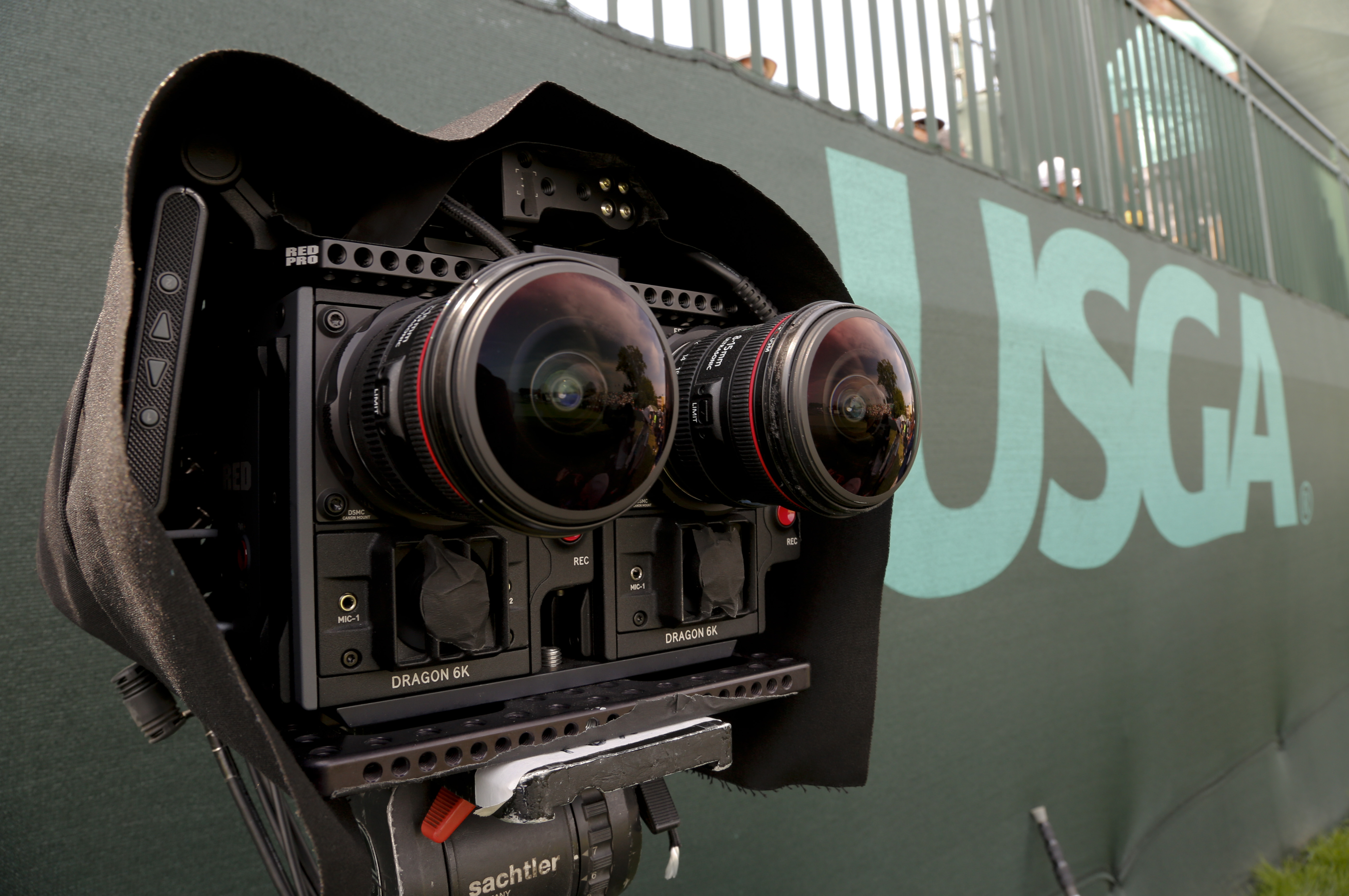 High-definition VR cameras are set up on the 18th tee during a practice round for the U.S. Open golf championship at Oakmont Country Club on Wednesday, June 15, 2016, in Oakmont, Pa. As part of Foxs five-year deal with NextVR, cameras at Oakmont will be p