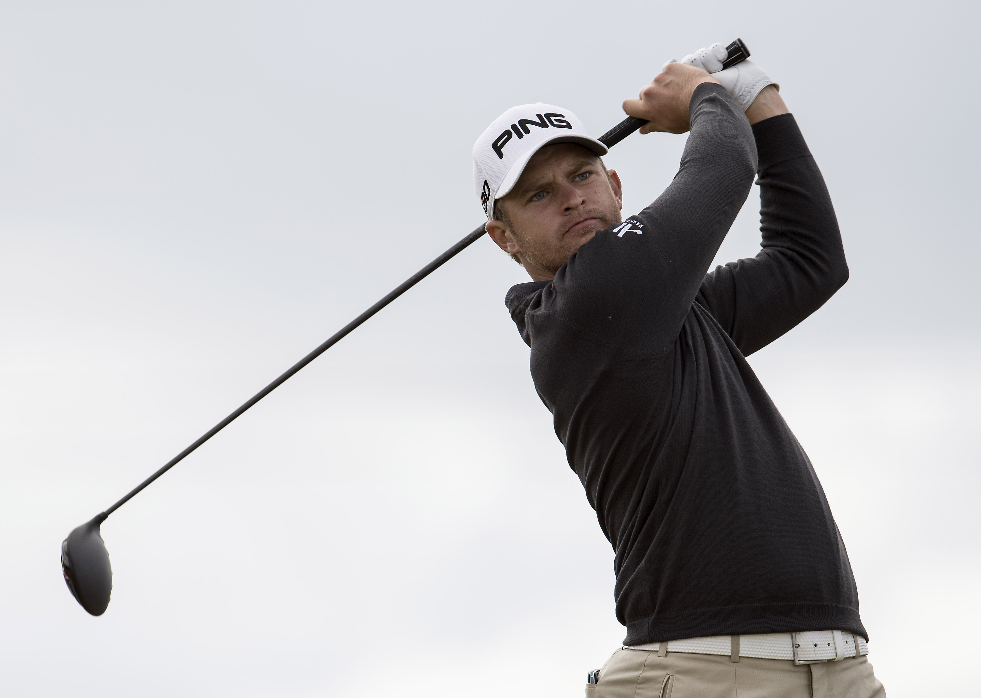 England's Tom Lewis during the third round of the European Tour Golf Tournament in Himmerland, Denmark, Saturday, Aug. 16, 2014. (AP Photo/Rene Schutze, POLFOTO) DENMARK OUT