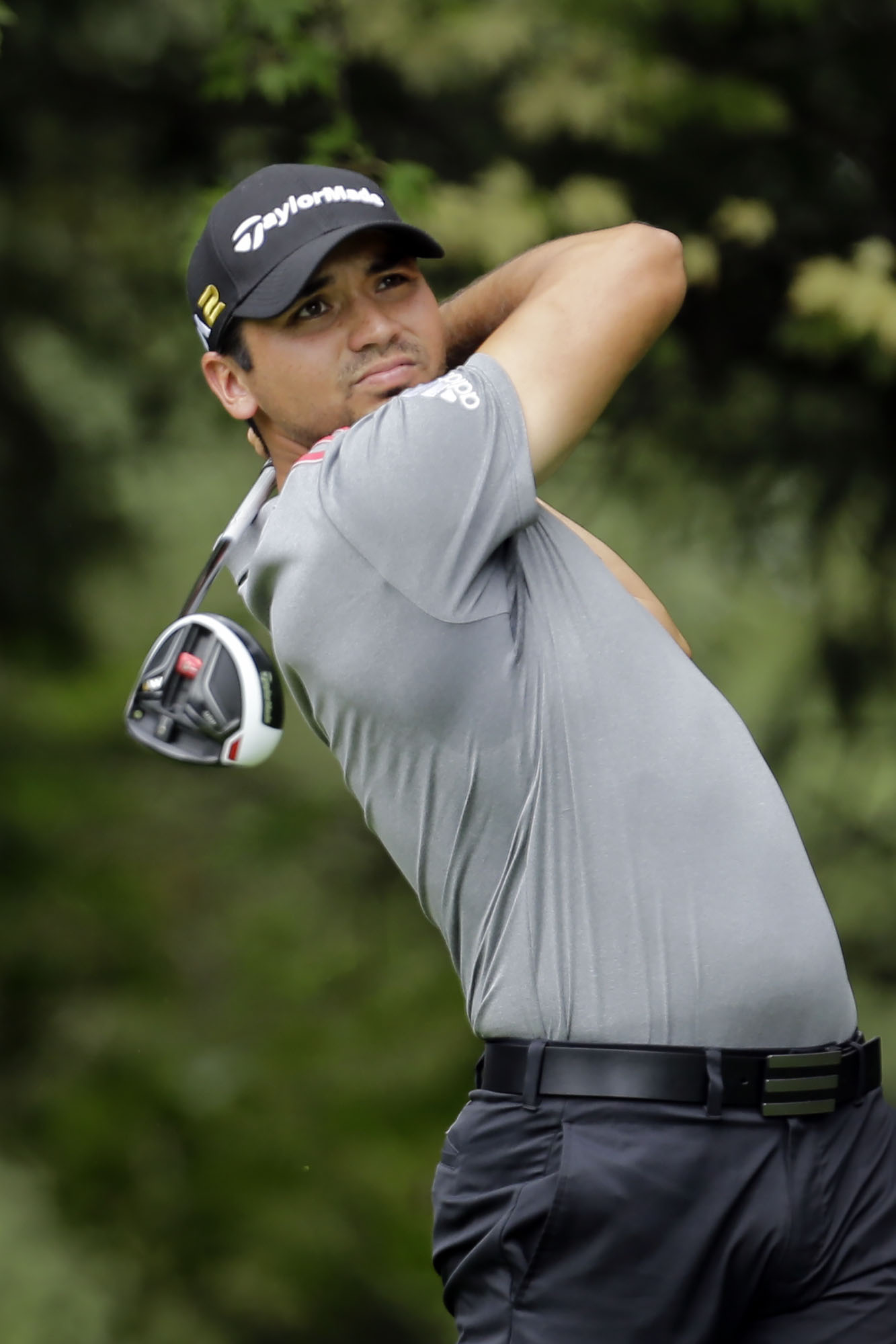 Jason Day, of Australia, watches his drive off the tee of the fifth hole during the second round of the BMW Championship golf tournament at Crooked Stick Golf Club in Carmel, Ind., Friday, Sept. 9, 2016. (AP Photo/AJ Mast)