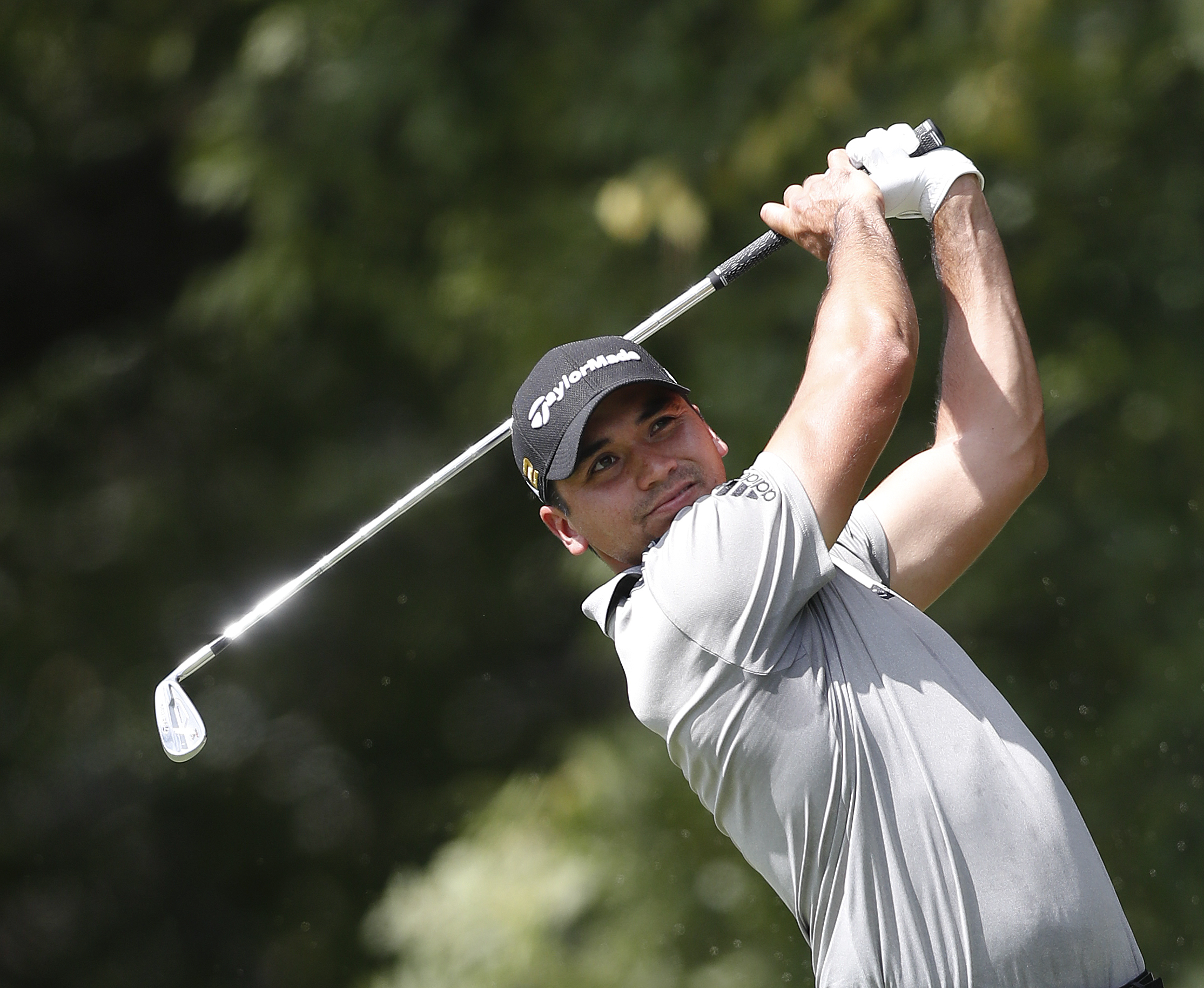 Jason Day hits from the tee on the second hole during the second round of play at the Tour Championship golf tournament at East Lake Golf Club Friday, Sept. 23, 2016, in Atlanta. (AP Photo/John Bazemore)