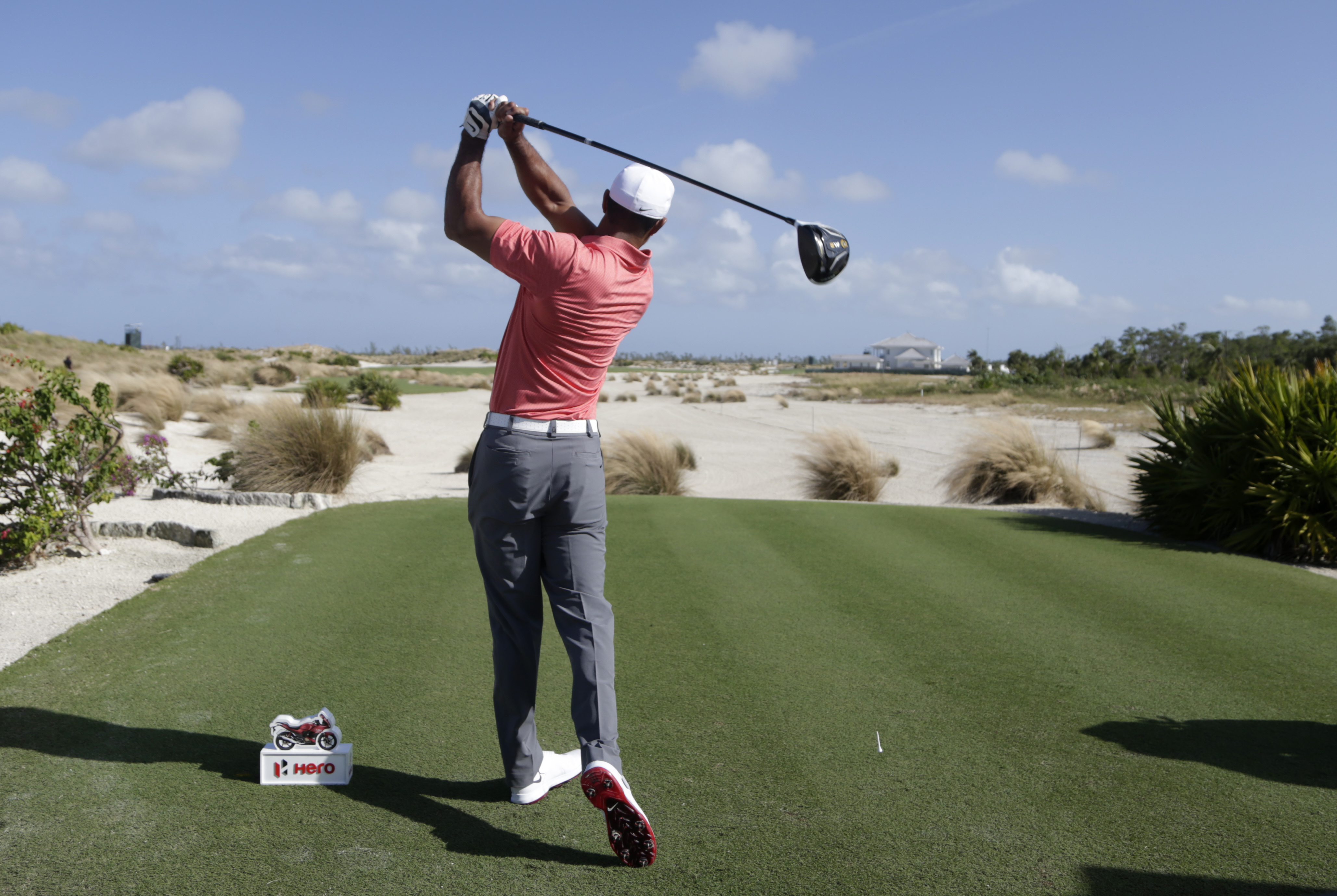 Tiger Woods hits from the sixth tee during the Pro-Am at the Hero World Challenge golf tournament, Wednesday, Nov. 30, 2016, in Nassau, Bahamas. (AP Photo/Lynne Sladky)